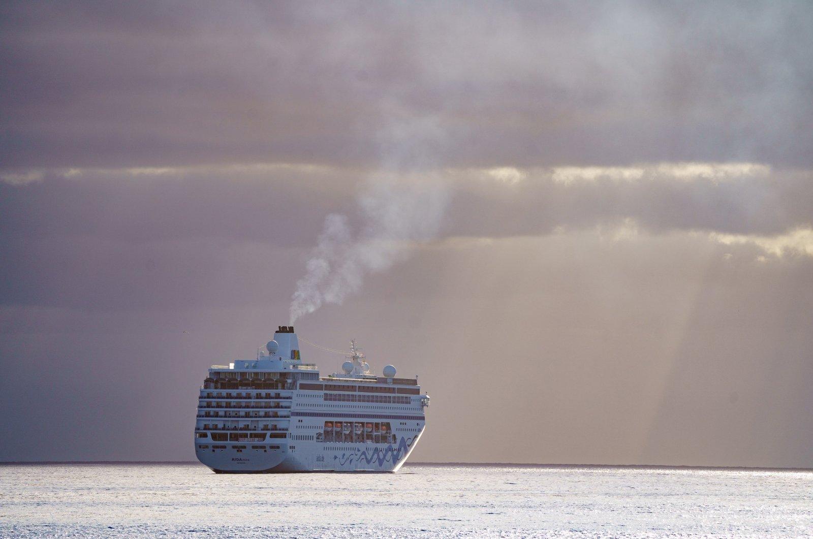 A cruise ship is seen anchored in Santa Cruz de Tenerife, Canary Islands, Spain, April 28, 2021. (EPA File Photo)