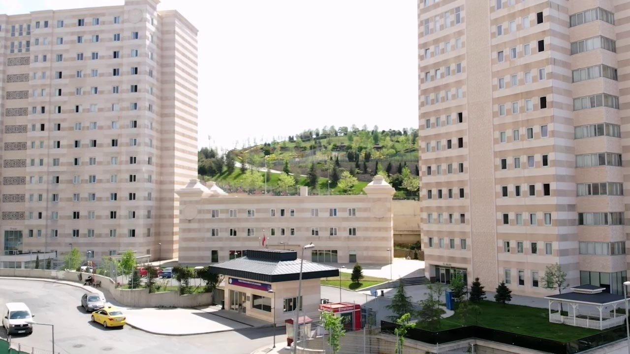 The Mimar Sinan male student dormitory, in Maltepe, Istanbul, May 5, 2021. (IHA Photo)