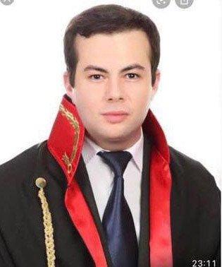 Halil Baki Çelen's photo in a prosecutor's robe, Denizli, Turkey, May 5, 2021. (DHA Photo)