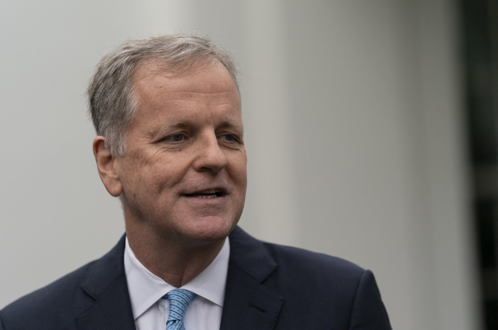 American Airlines CEO Doug Parker speaks to reporters alongside other airline executives outside the White House in Washington, U.S., Sept. 17, 2020. (Reuters Photo)