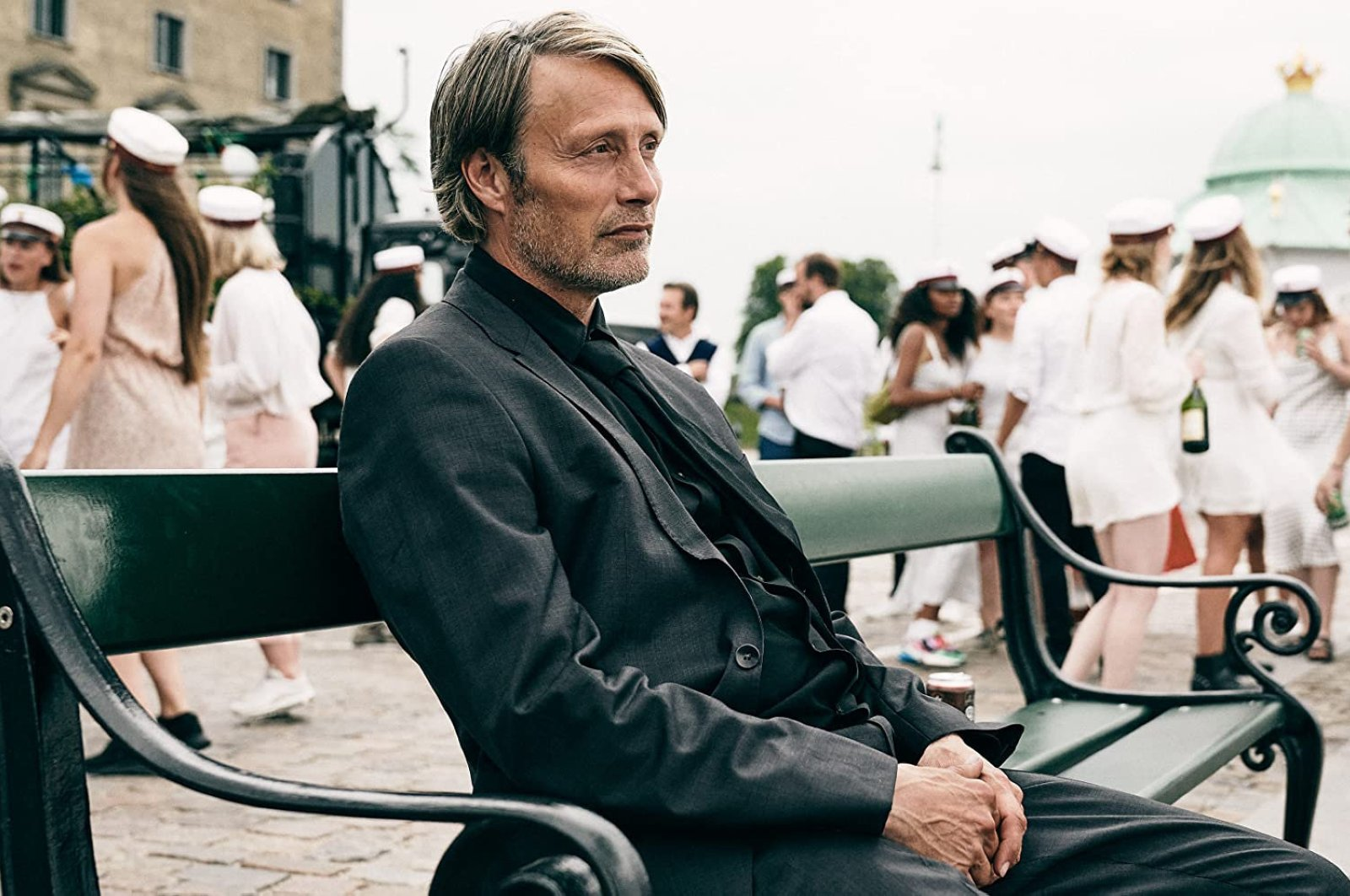 """Actor Mads Mikkelsen as history teacher Martin in a still shot from """"Another Round."""""""