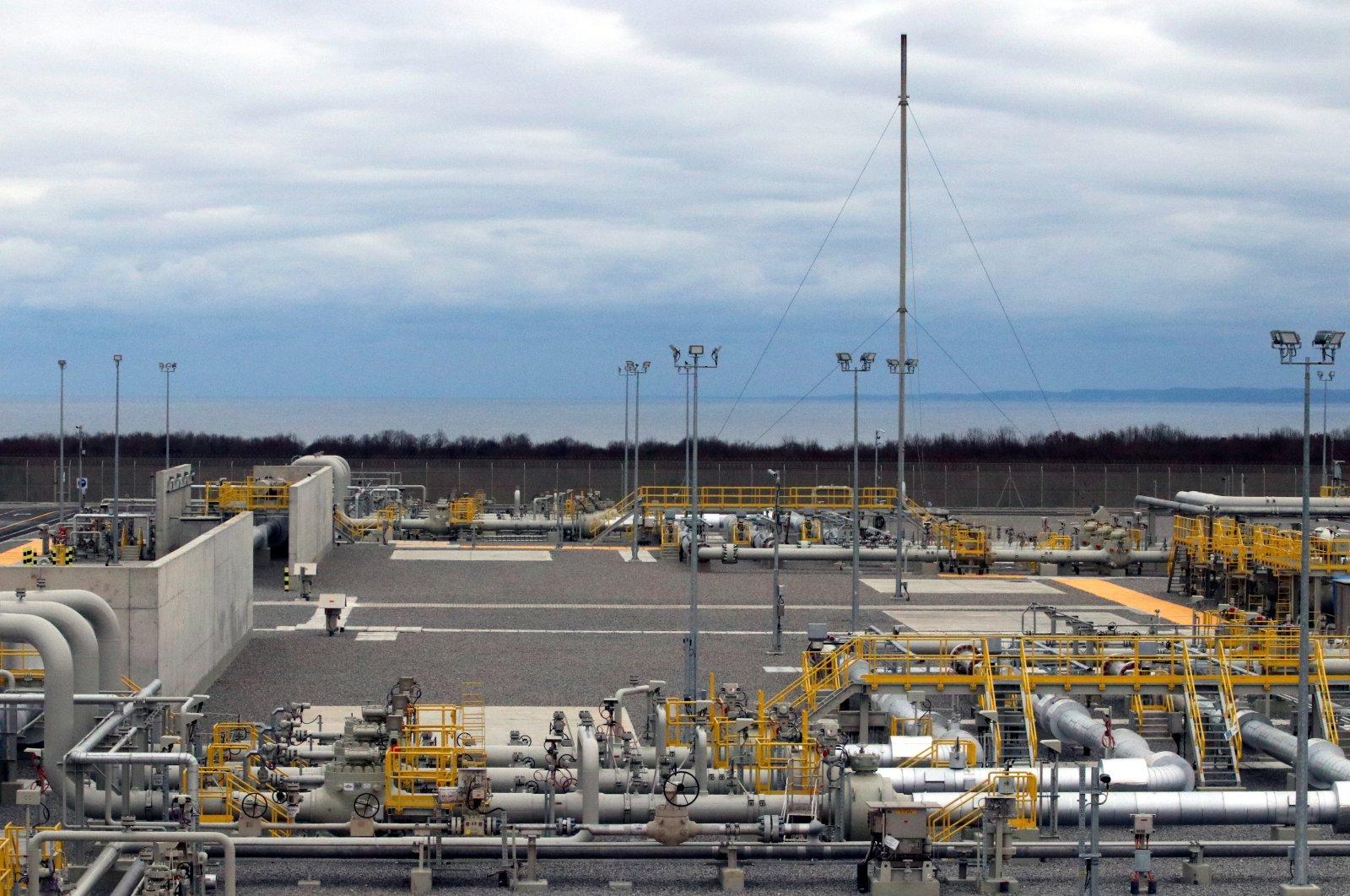 TurkStream gas reception terminal in Kıyıköy at the Turkish-Bulgarian border, Dec. 25, 2019. (AA Photo)