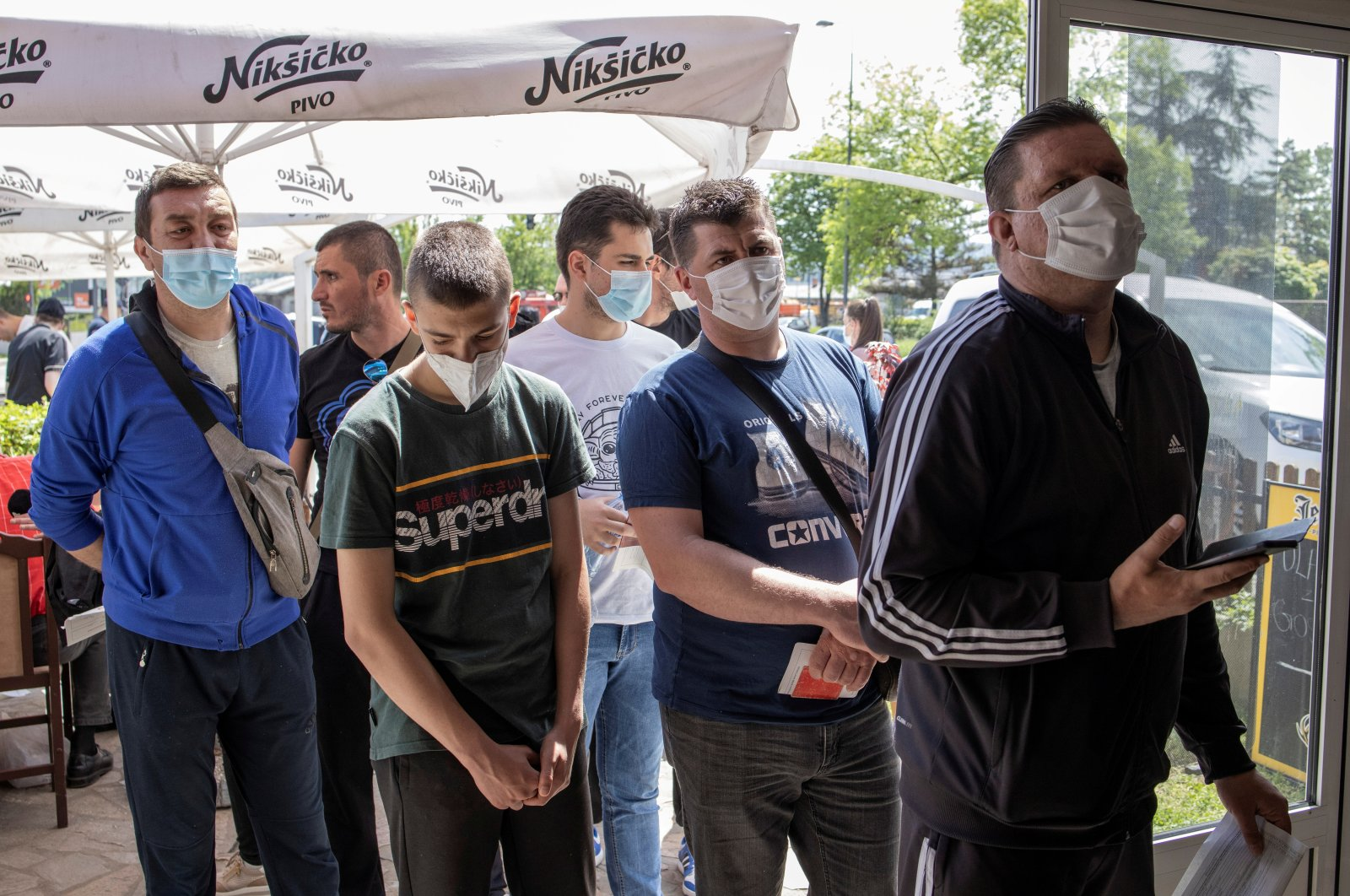 People wait to receive doses of the Chinese Sinopharm vaccine against the coronavirus disease at a restaurant in Kragujevac, Serbia, May 4, 2021. (Reuters Photo)
