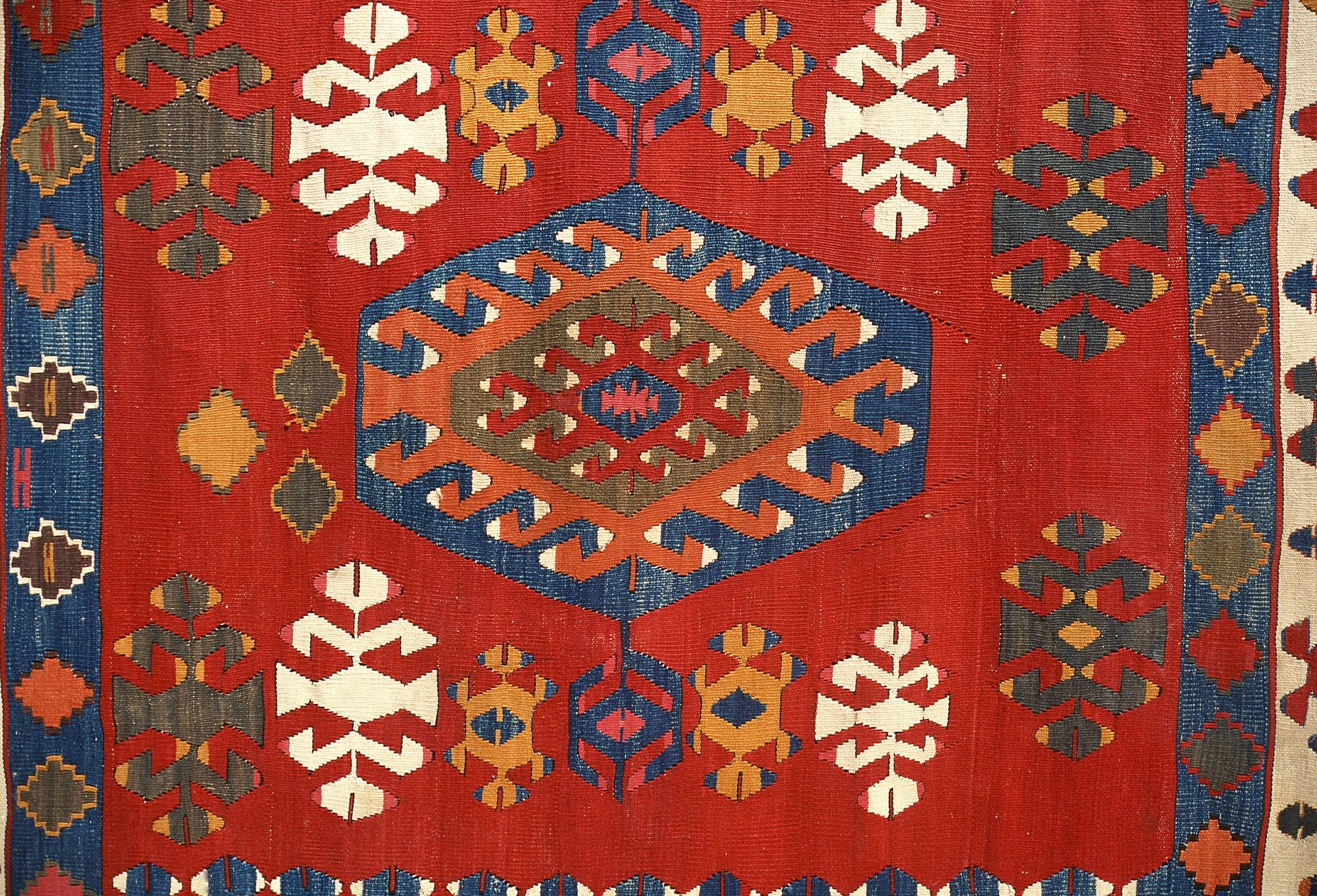 Early 19th-century hand-woven kilim from western Anatolia. (Corbis via Getty Images)