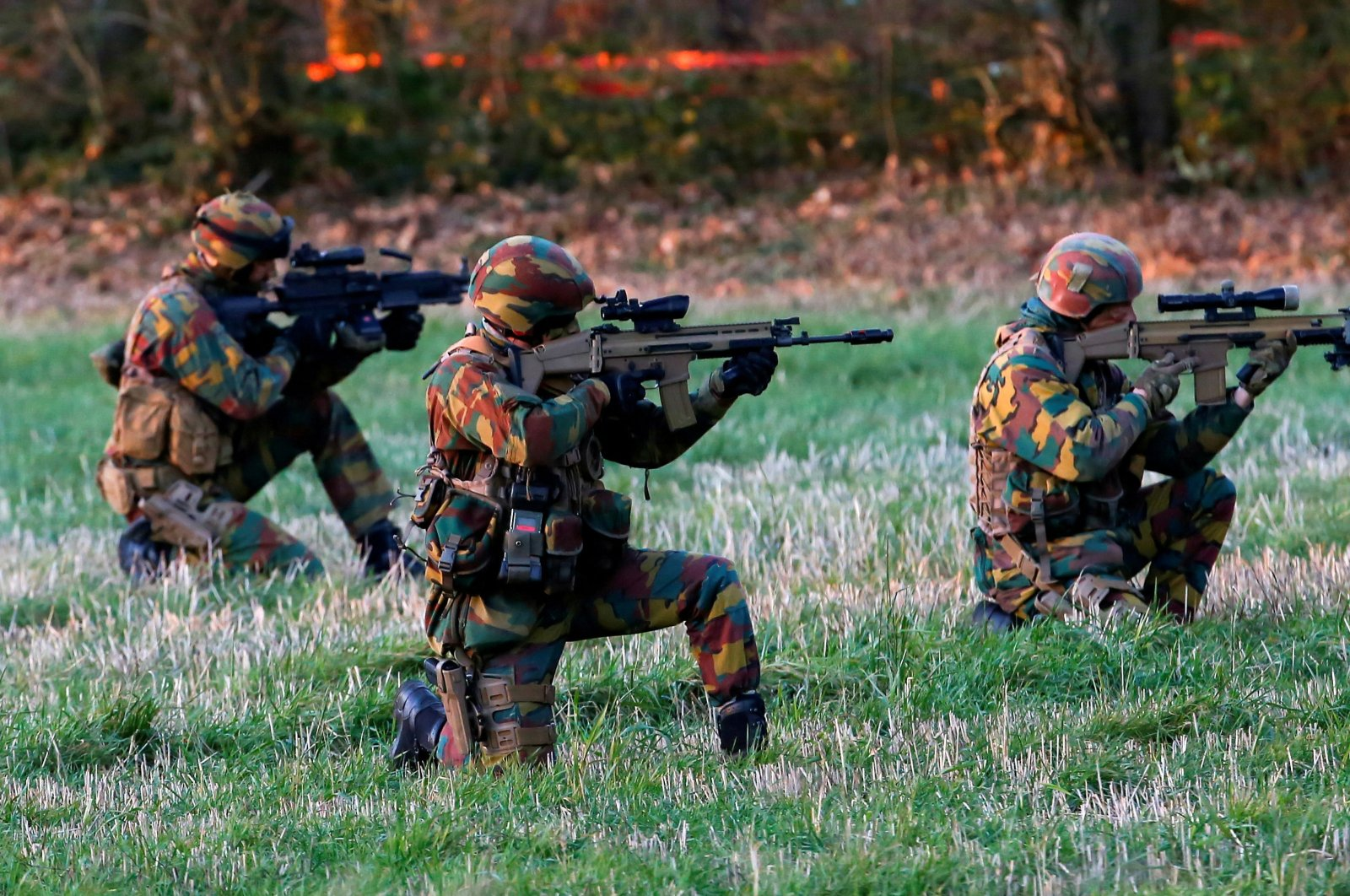 Belgian Special Forces are seen during the Black Blade military exercise involving several European Union countries and organized by the European Defense Agency at Florennes airbase, Belgium, Nov. 30, 2016. (Reuters Photo)