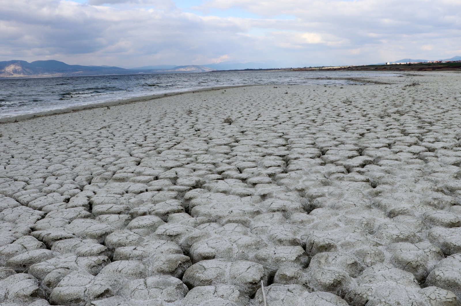 A dried-up field once used to grow sugar beets in Burdur, southwestern Turkey. (DHA Photo)