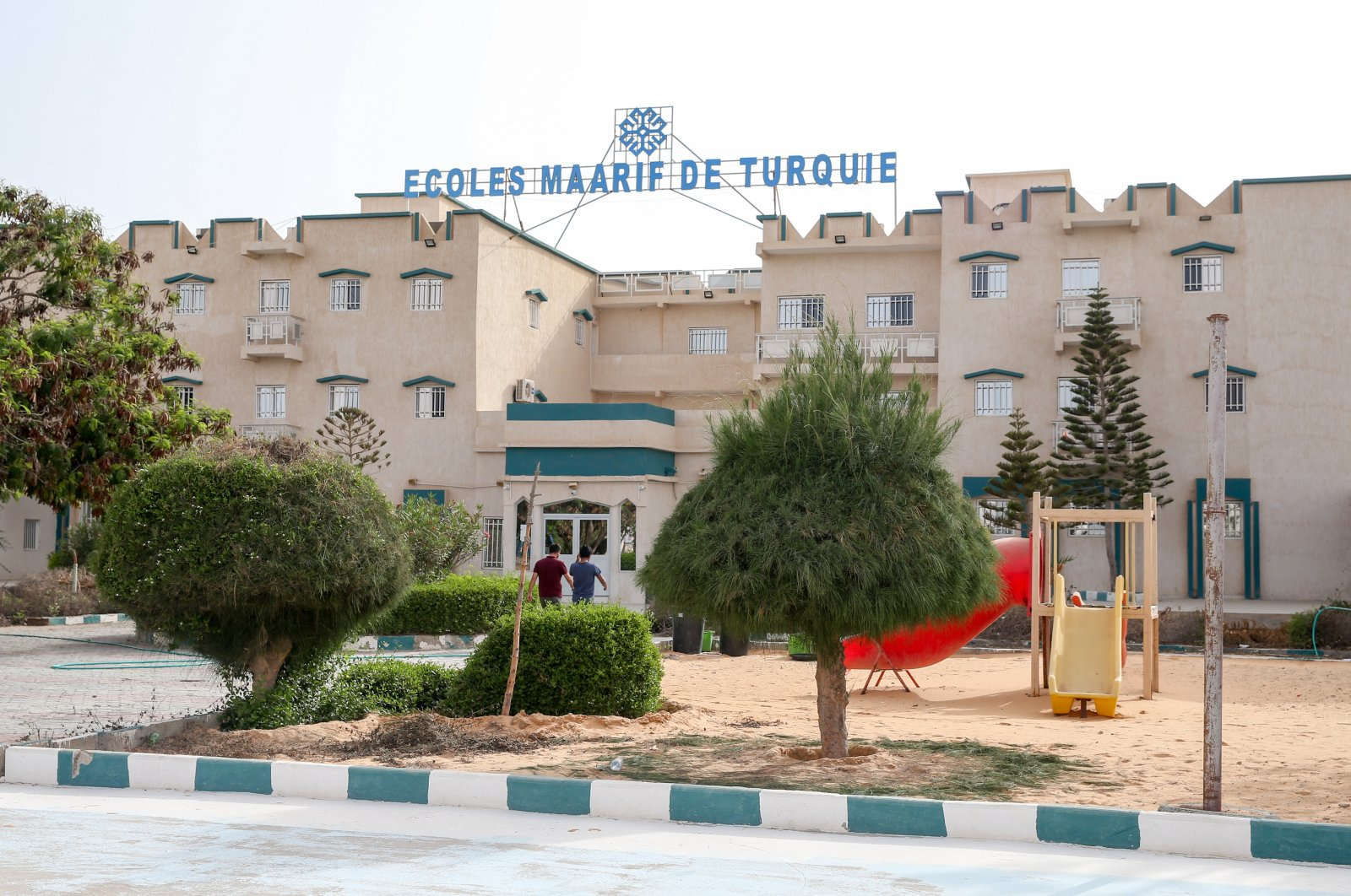 A school taken over by the Maarif Foundation from the Gülenist Terror Group (FETÖ) is seen in Mauritania, Sept. 11, 2019. (AA Photo)