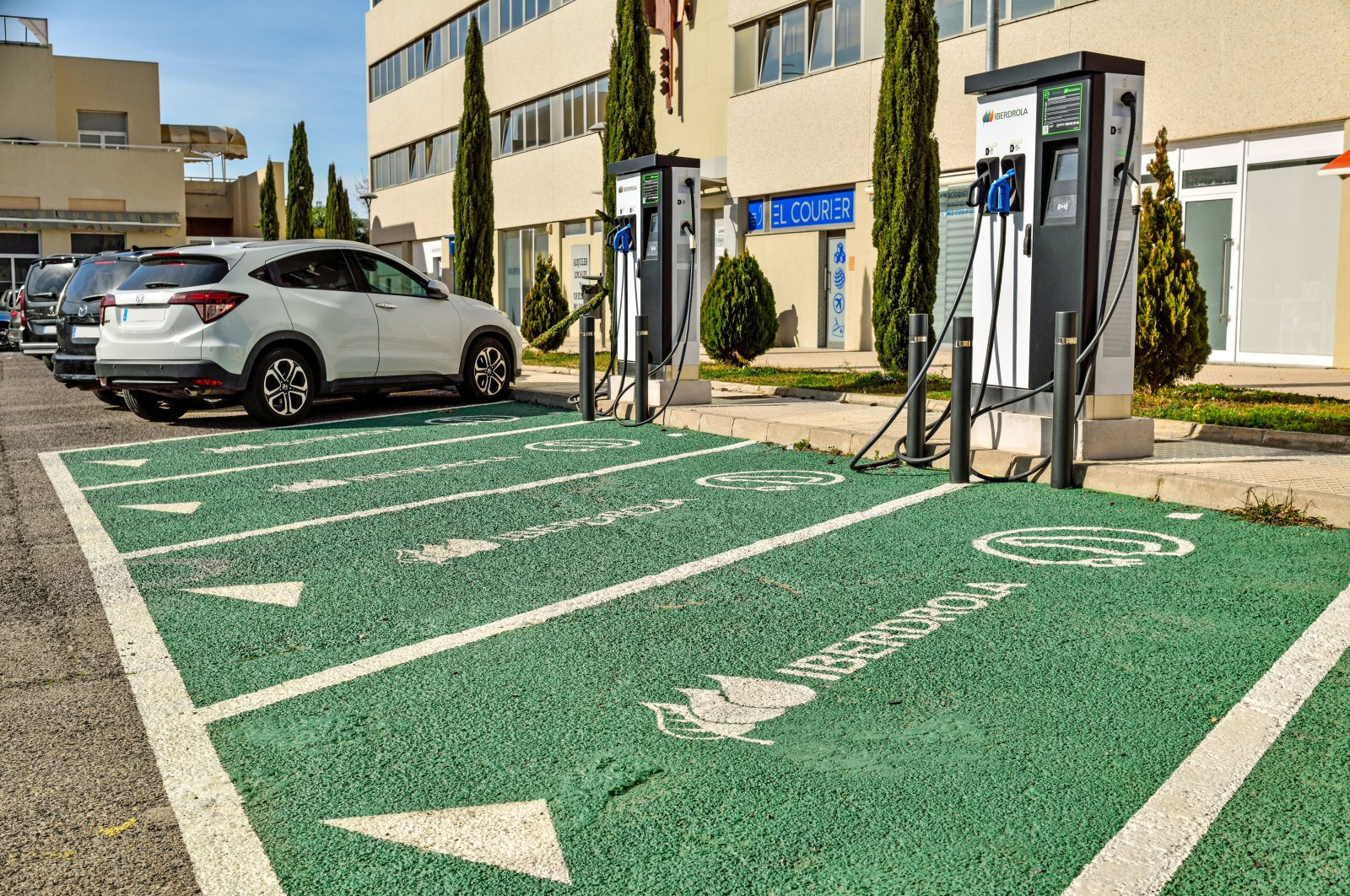 Electric car charging stations in Paterna, Valencia, Spain, Jan. 26, 2021. (Shutterstock Photo)
