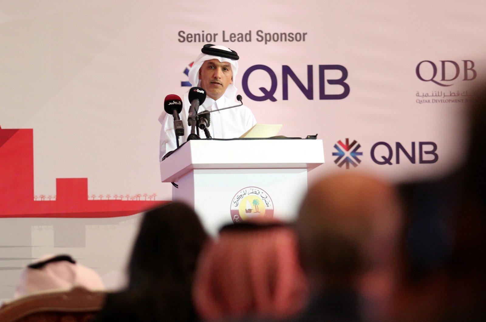 Qatar Finance Minister Ali Sherif al-Emadi speaks during the Euromoney Qatar Conference in Doha, Qatar, Dec. 6, 2016. (Reuters Photo)