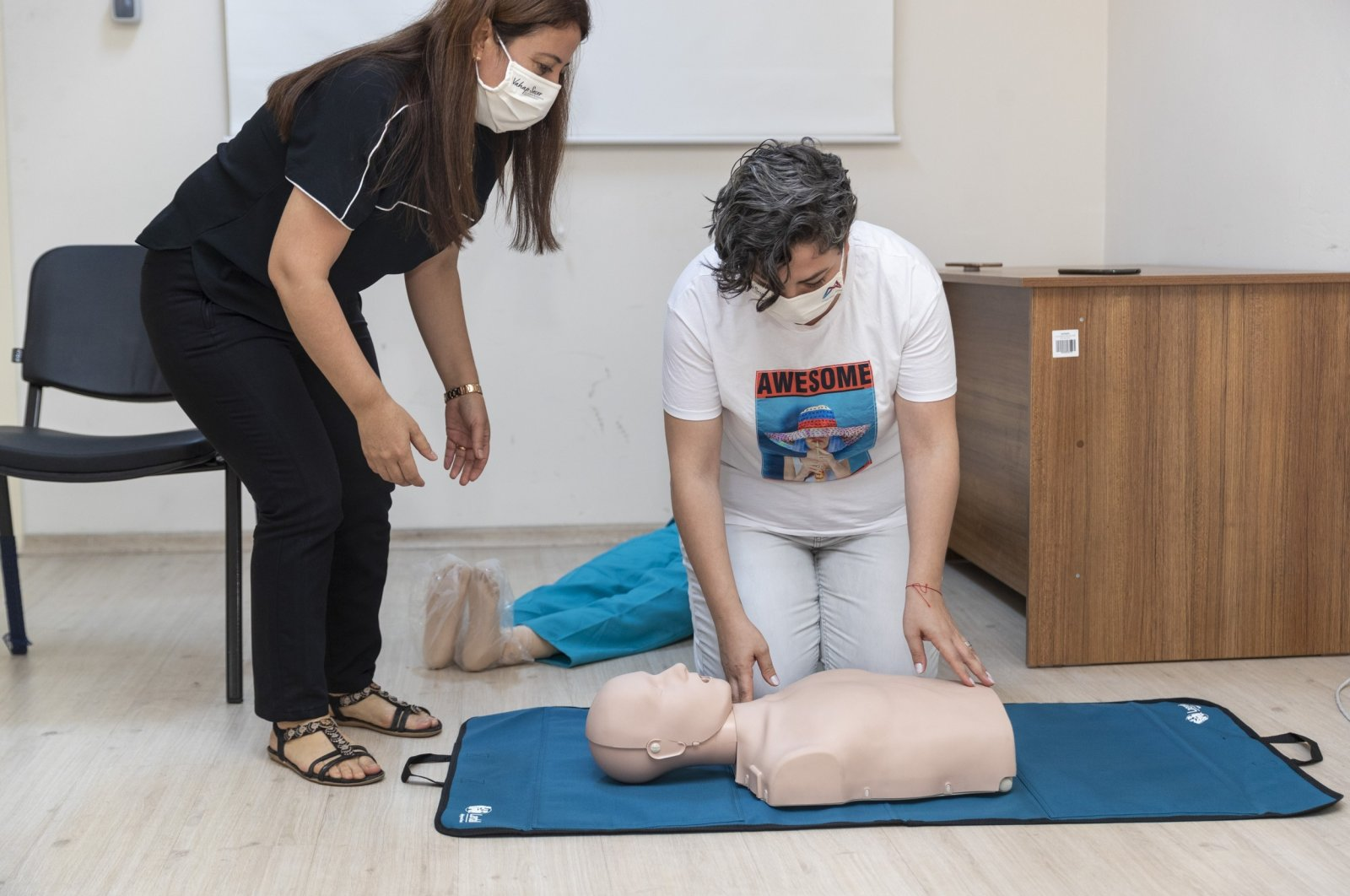 There are select health centers across Turkey that offer first aid training. (IHA Photo)