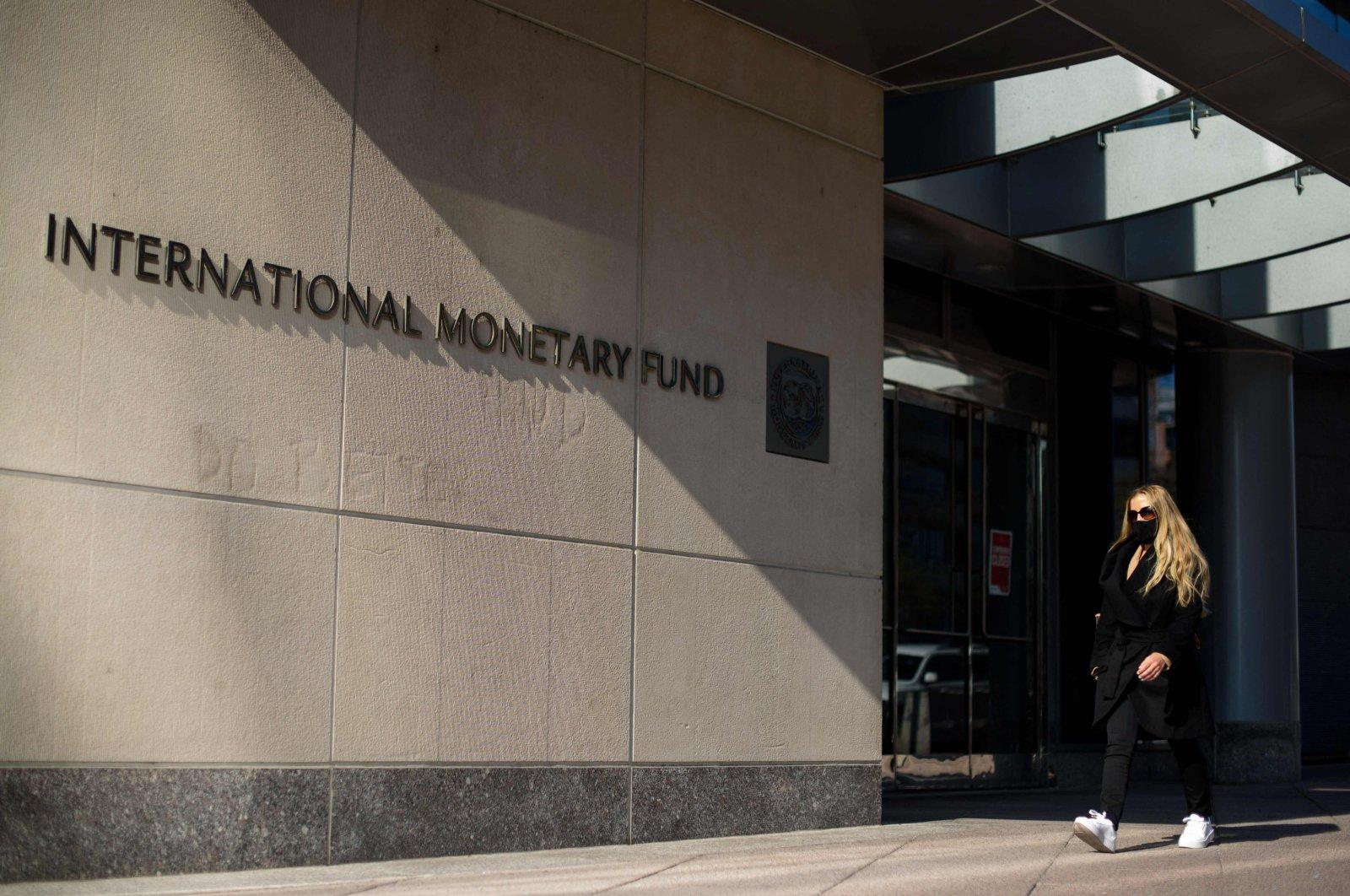 International Monetary Fund (IMF) headquarters in Washington, D.C., April 5, 2021. (AFP Photo)