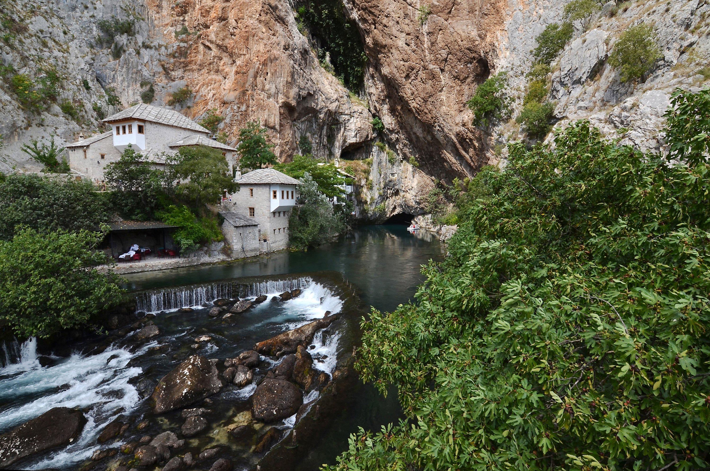 The Dervish monasteryin Blagaj village. (Getty Images)
