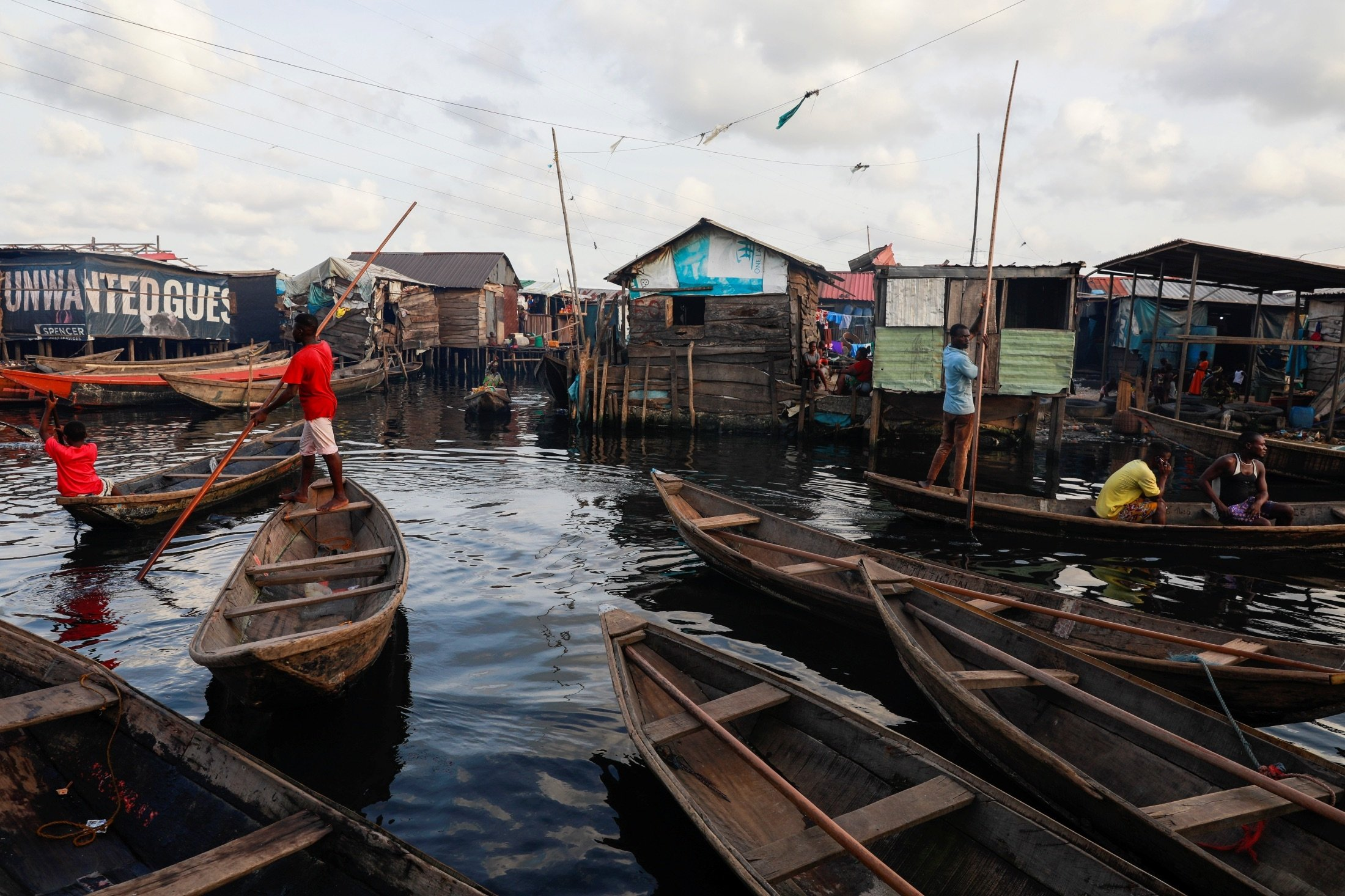 A view of the Makoko community is pictured in Lagos, Nigeria, May 5, 2021. (Reuters Photo)