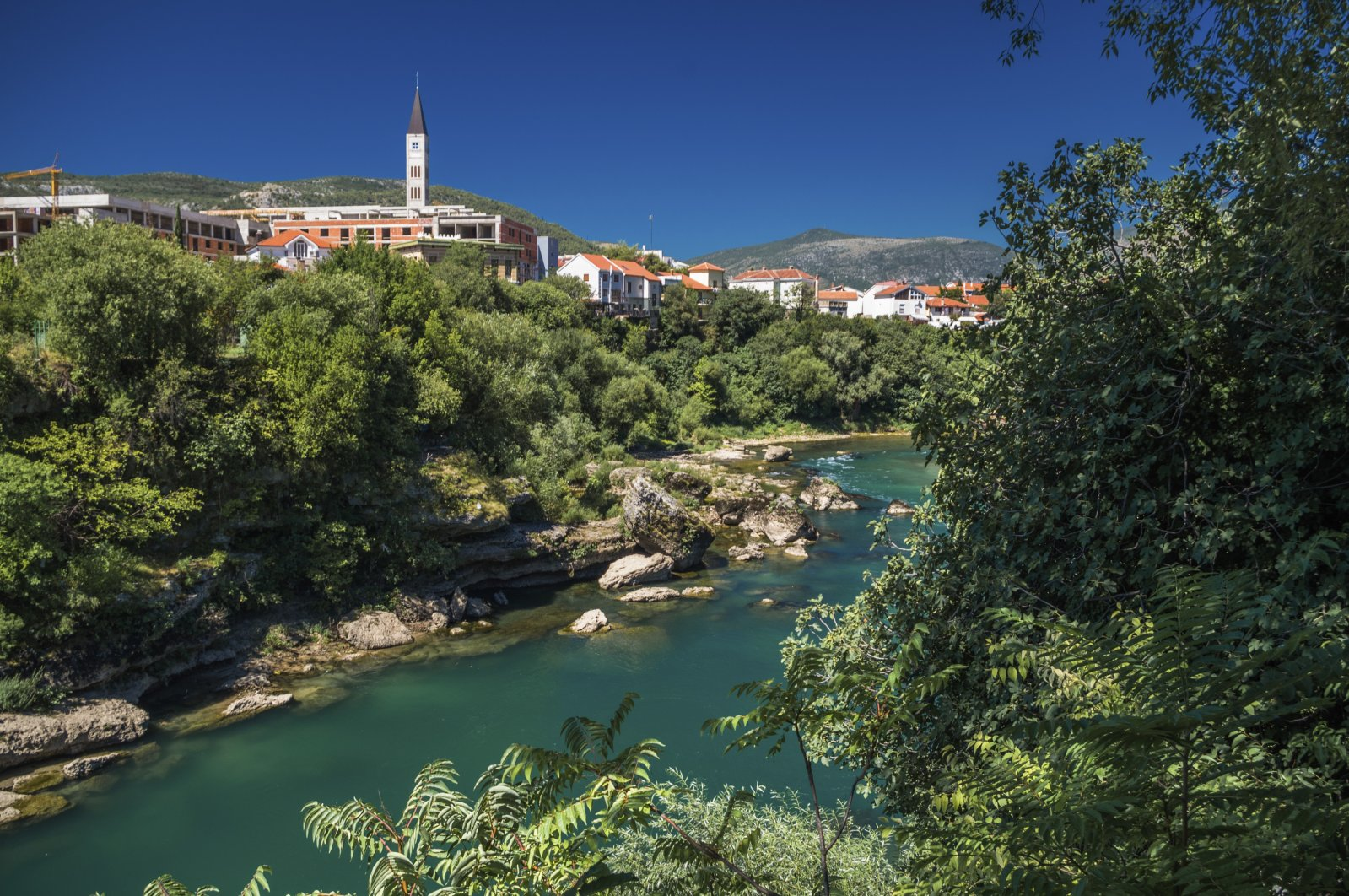 A view of the Neretva River in Mostar, Bosnia-Herzegovina. (Getty Images)