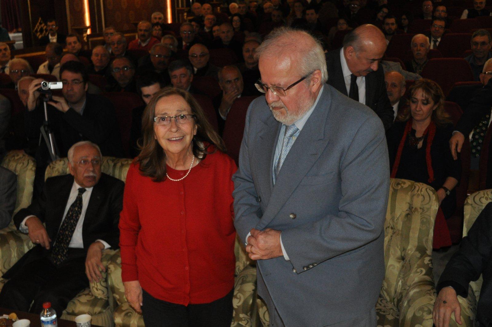Emine Işınsu with her husband, Iskender Öksüz. (AA Photo)