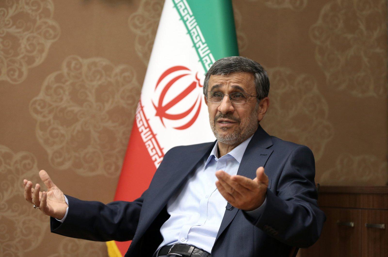 Former Iranian PresidentMahmoud Ahmadinejad speaks to Anadolu Agency (AA) in Tehran, Iran, May 7, 2021. (AA Photo)