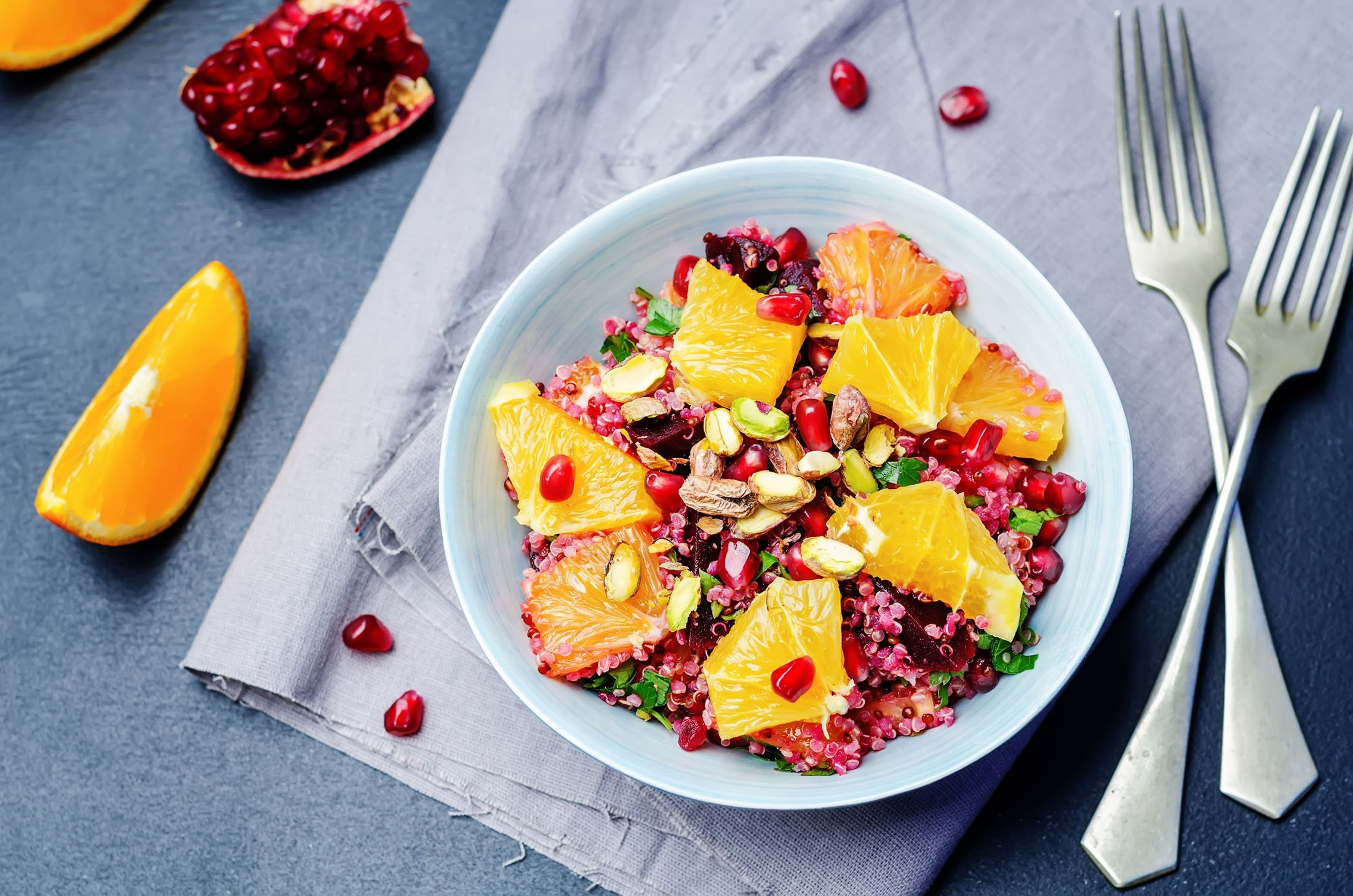 You could always skip the oats and only go for quinoa in your fruity grain salad. (Shutterstock Photo)