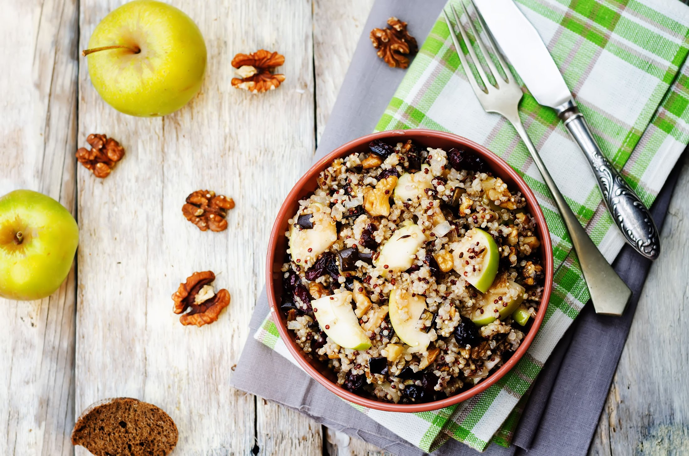 Apples and dried cranberries pair well with grains. (Shutterstock Photo)