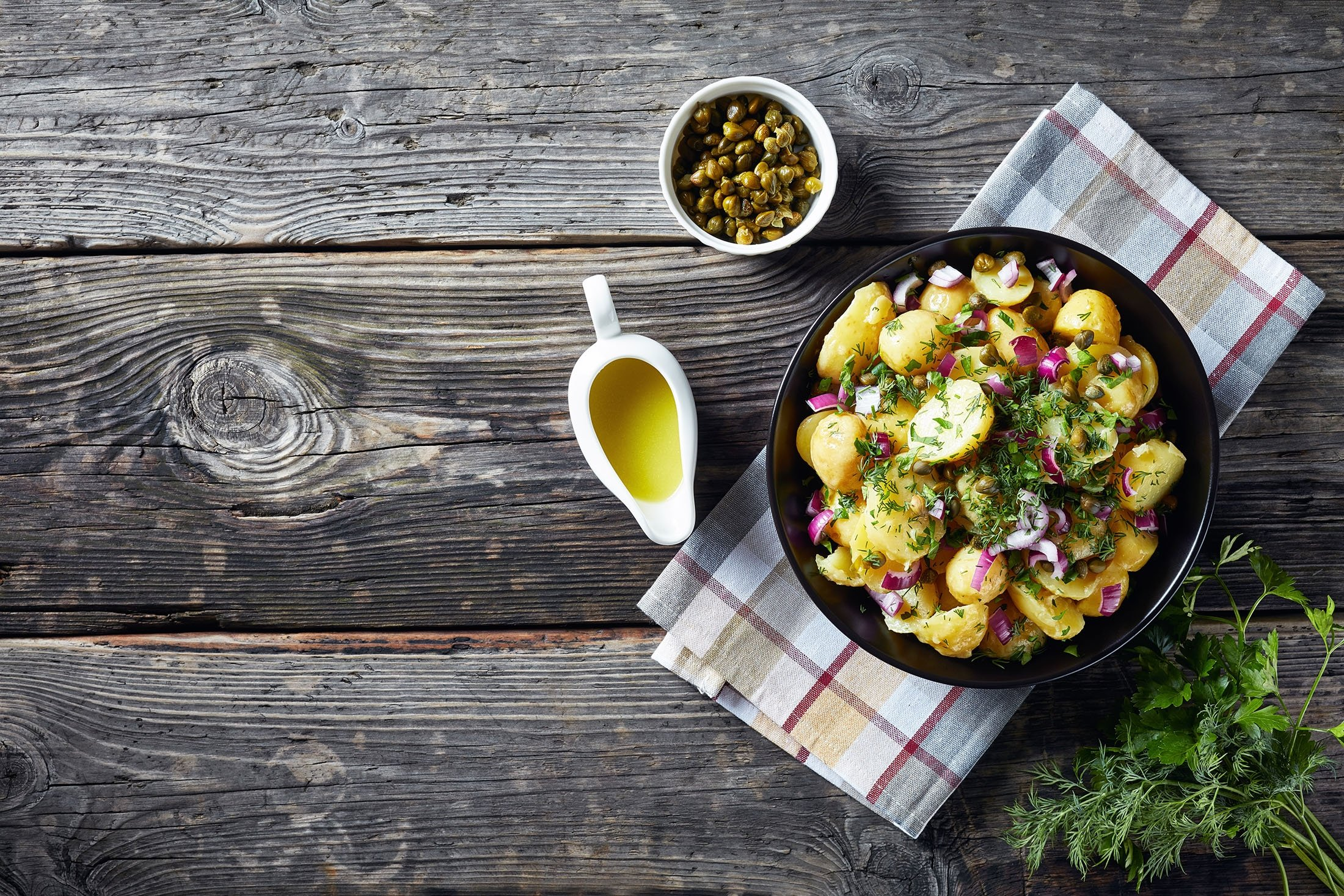 You could always swap green peppers for red onions in your potato salad for some extra flavor. (Shutterstock Photo)