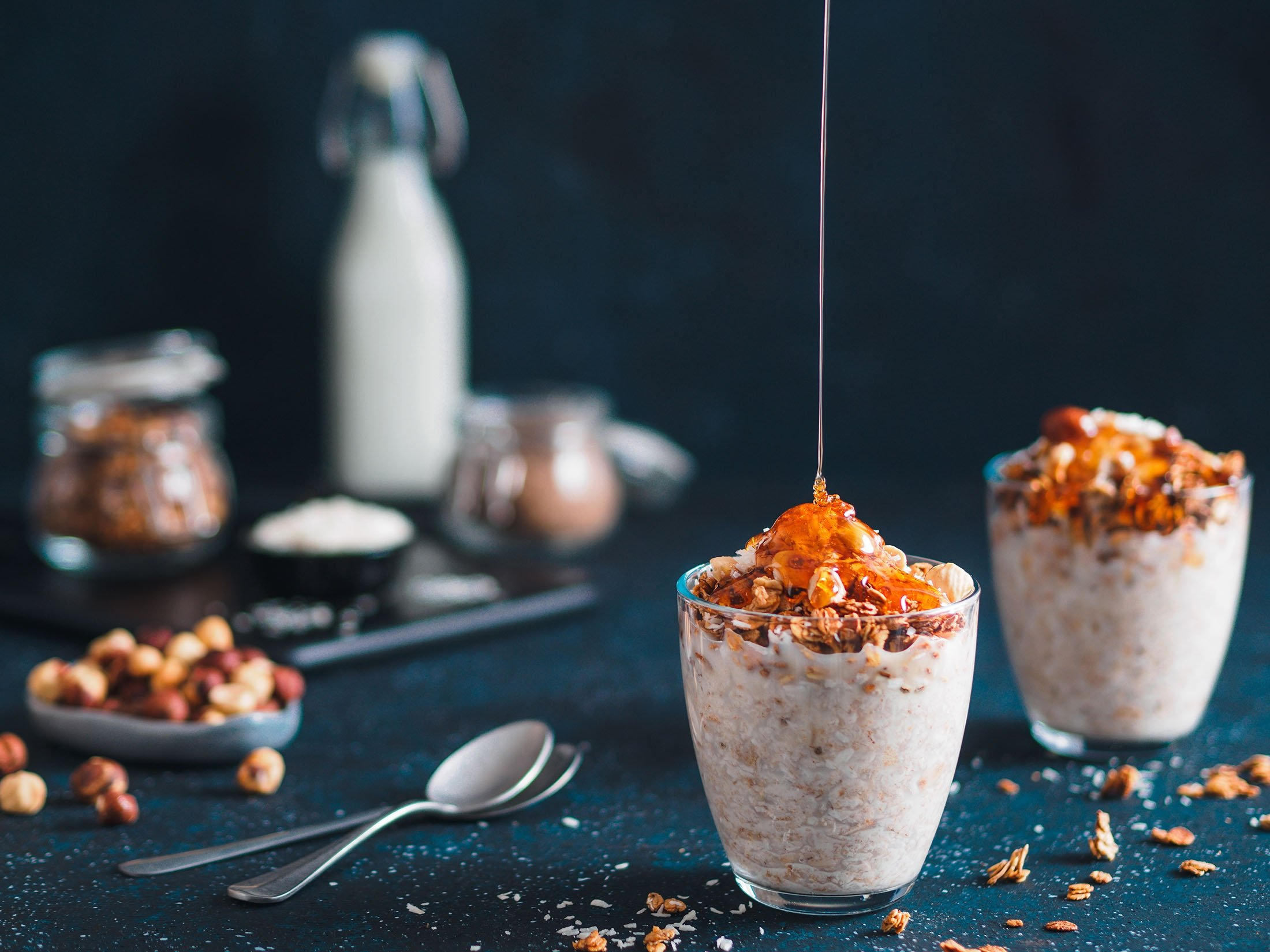 Be careful not to go overboard with the honey in your oats. (Shutterstock Photo)