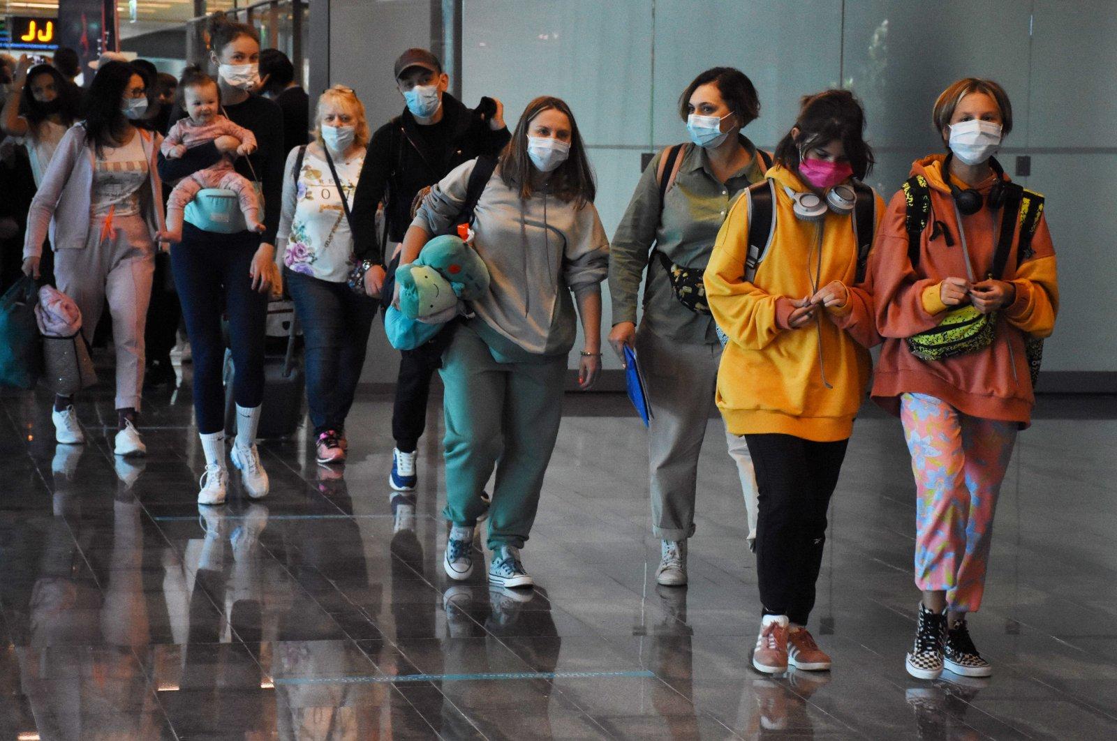 Tourists arrive at Dalaman Airport, Muğla, southwestern Turkey, May 9, 2021. (AA Photo)