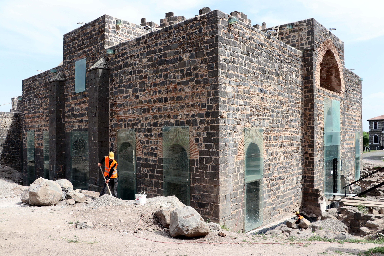 An exterior view of SaintGeorge Church, Diyarbakır, southeastern Turkey, May 6, 2021. (AA Photo)