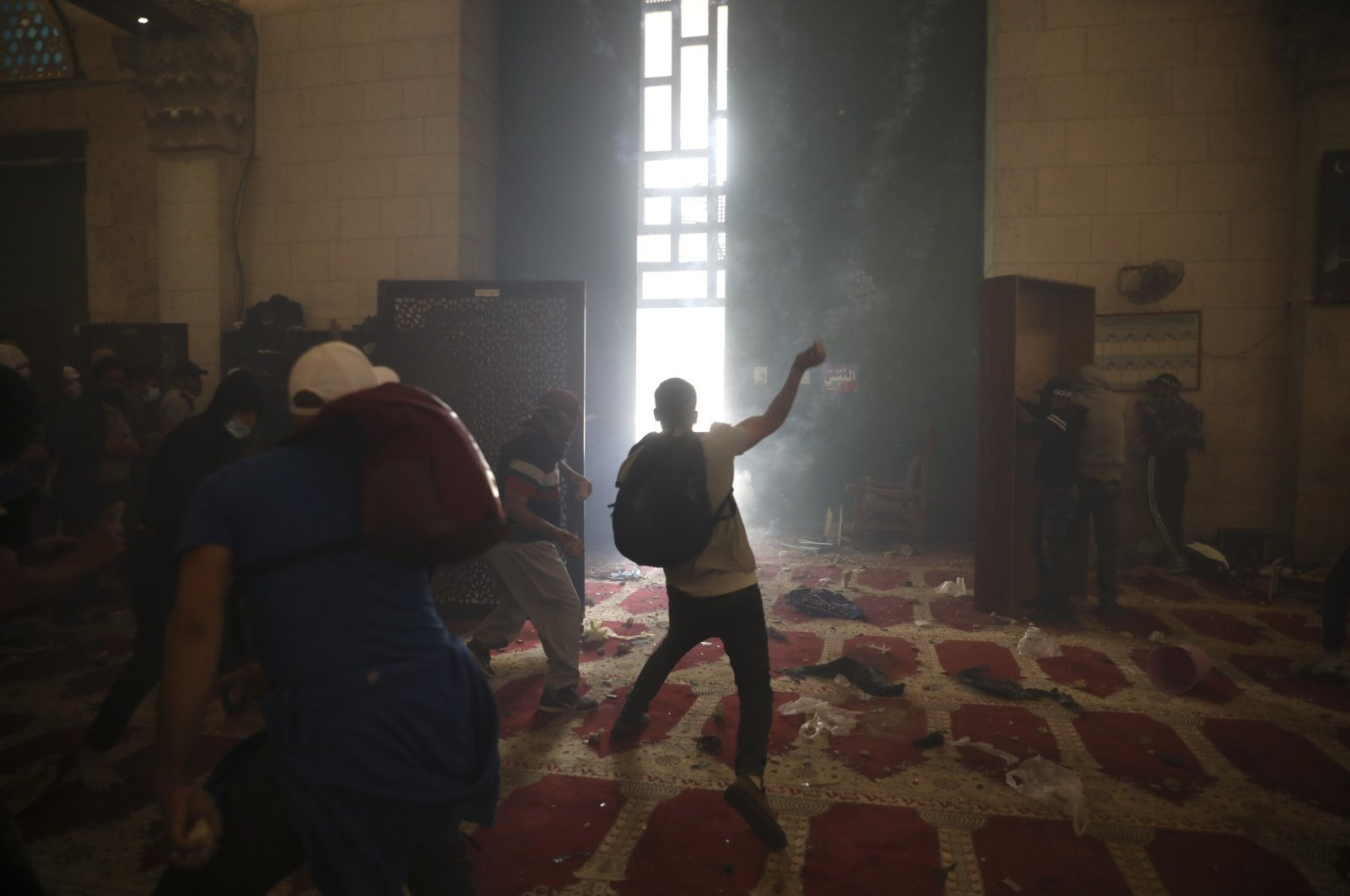 Israeli forces target Palestinians at the Al-Aqsa Mosque compound in Jerusalem's Old City, Palestine, May 10, 2021. (AP Photo)