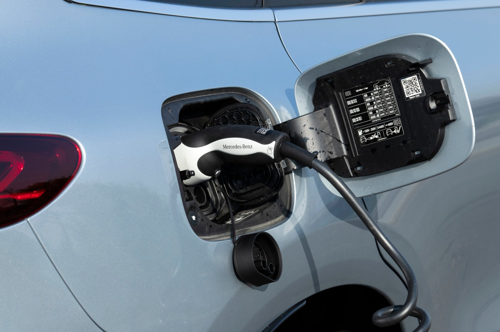 An electric car is seen plugged in at a charging point for electric vehicles in Istanbul, Turkey, Jan. 19, 2021. (Shutterstock Photo)
