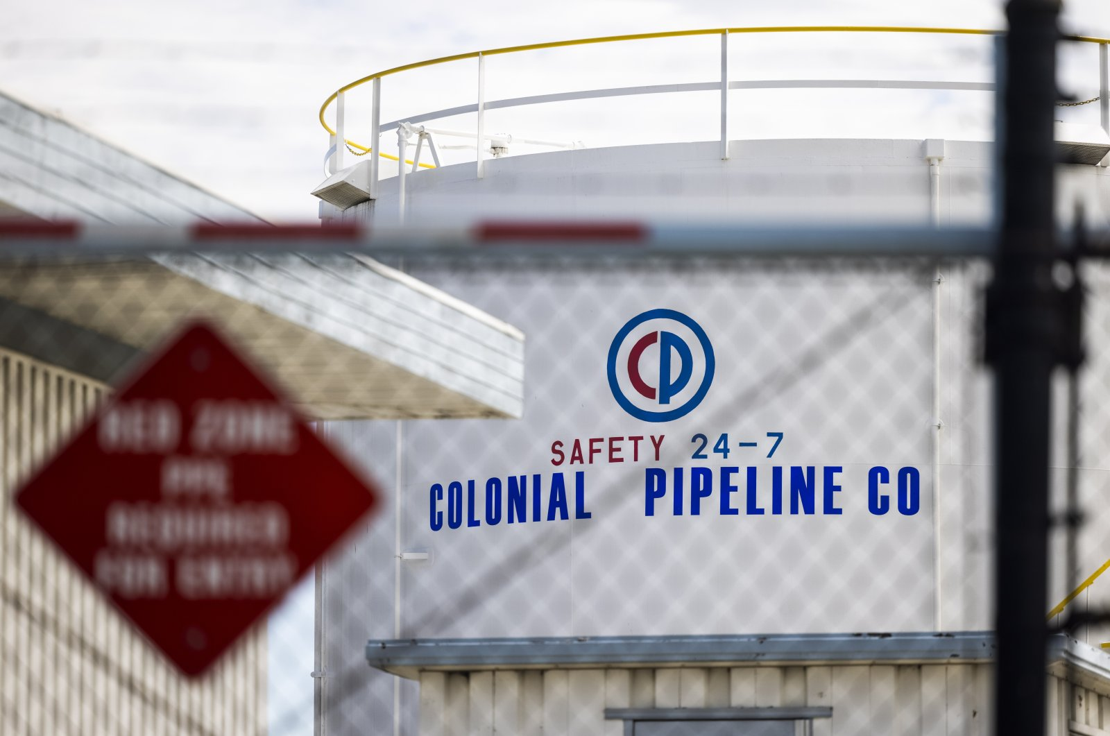 A Colonial Pipeline facility in Baltimore, Maryland, U.S., May 10, 2021. (EPA Photo)