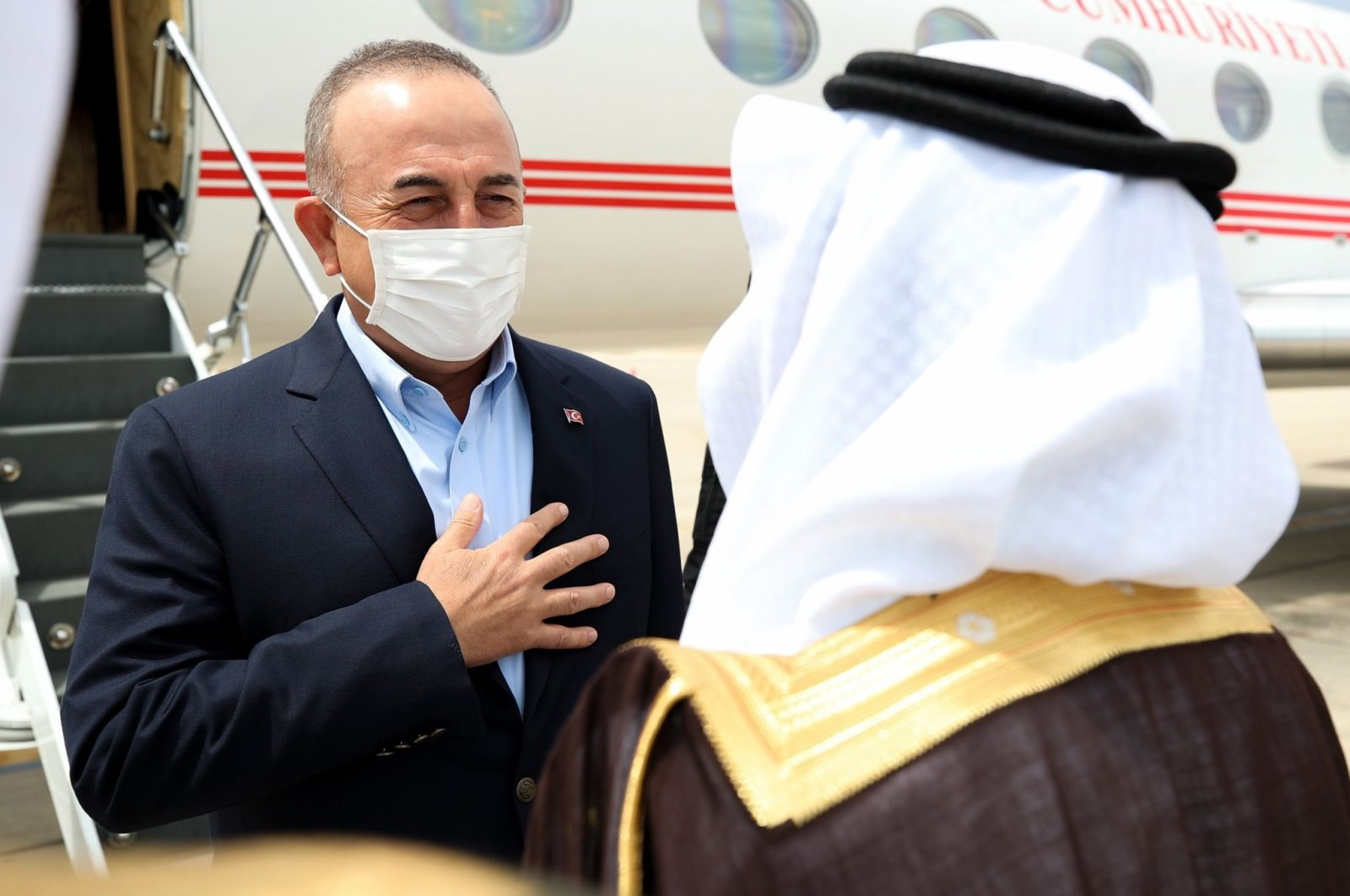 Turkish Foreign Minister Mevlüt Çavuşolğlu in Saudi Arabia for an official visit, Saudi Arabia, May 10, 2021. (DHA Photo)