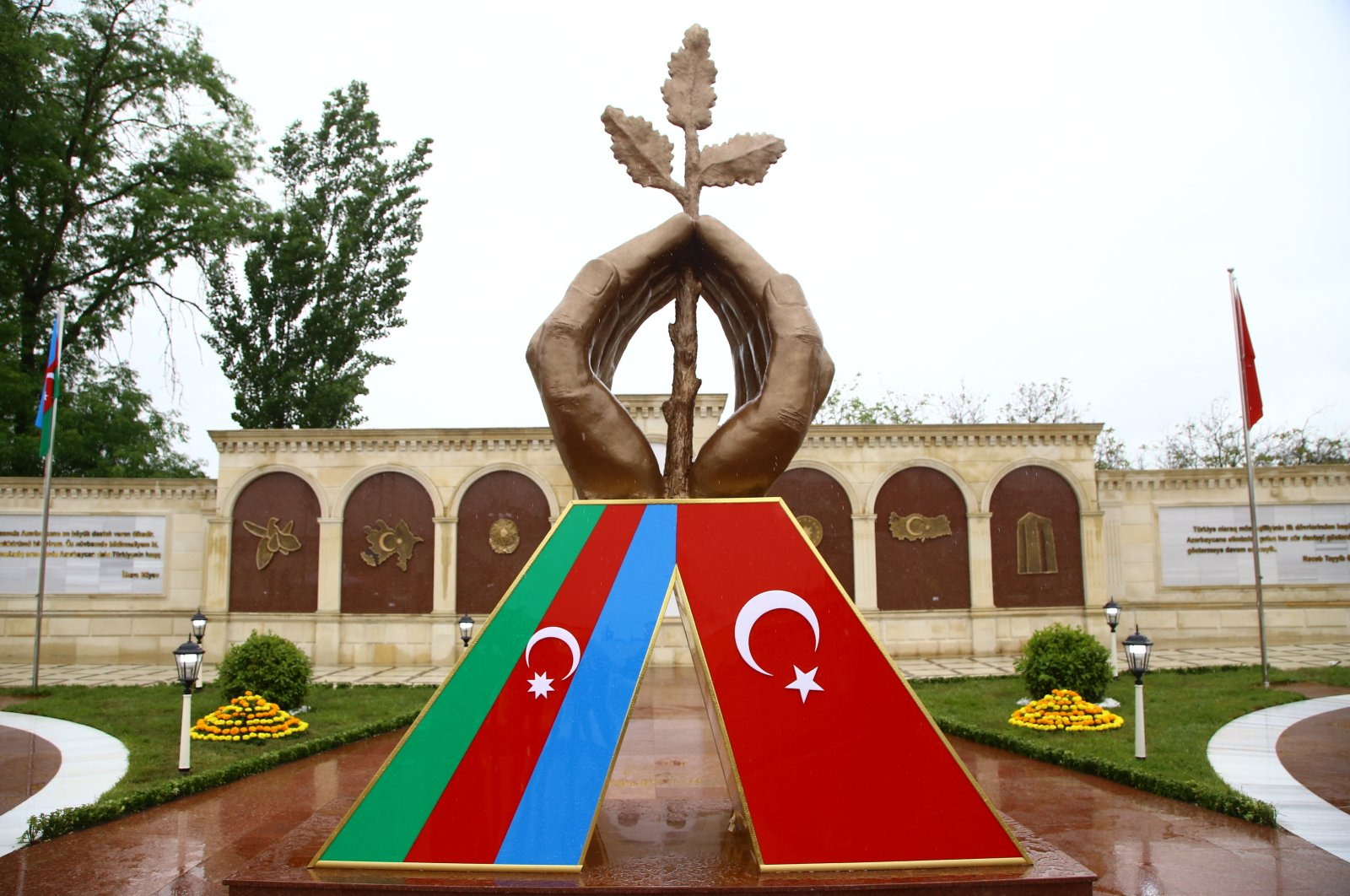 TheAzerbaijan-Turkey Brotherhood Park in the city of Guba in the northeastern Quba district, Azerbaijan, May 10, 2021. (AA Photo)