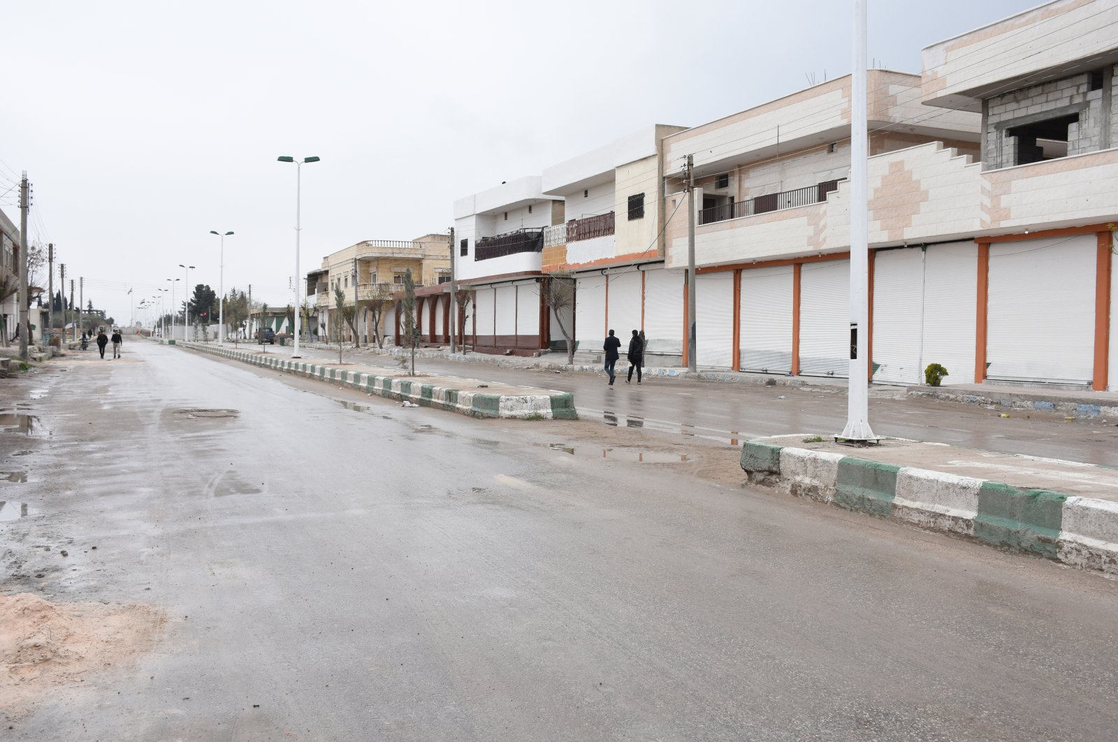 A renovated street is seen in northern Syria's Tal Abyad, May 11, 2021. (AA Photo)