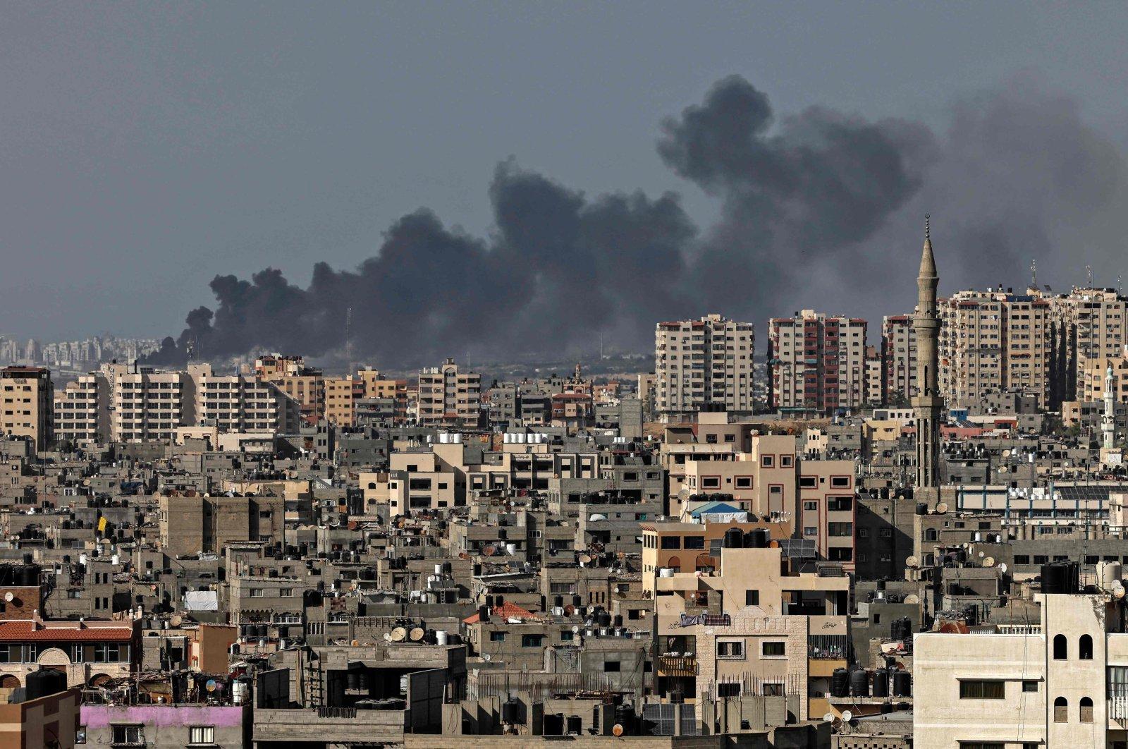 Smoke billows from an Israeli airstrike in Gaza City, Palestine, May 11, 2021. (AFP Photo)