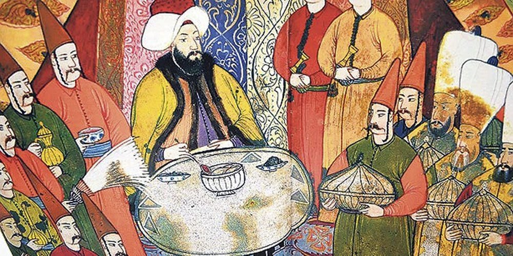 The picture depicts Ramadan Bayram celebrations during Ottoman times. (Archive Photo)