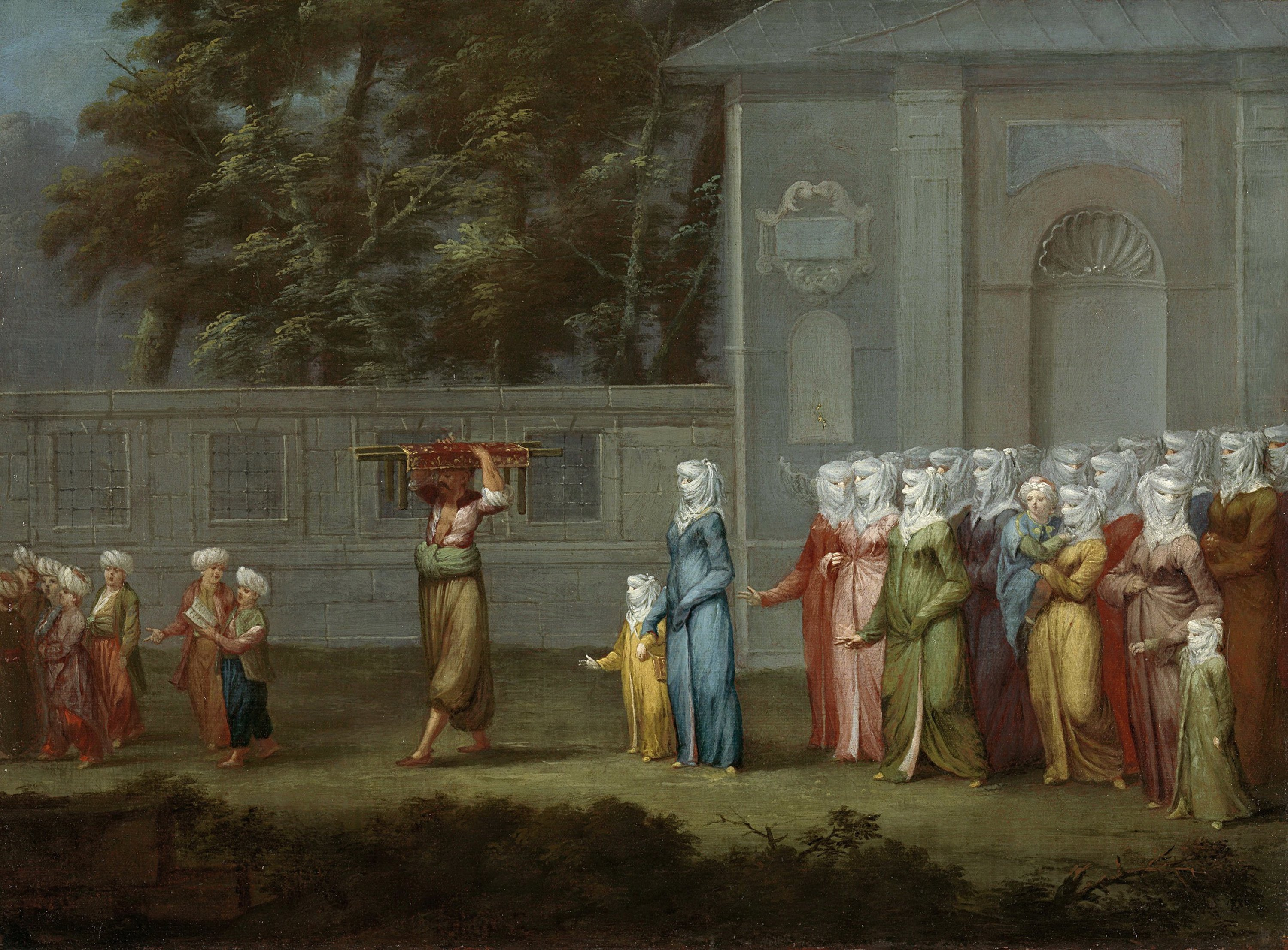 """The painting by Jean Baptiste Vanmour depicts 'Amin Alayı"""" (""""Amen Procession'). (Getty Images)"""