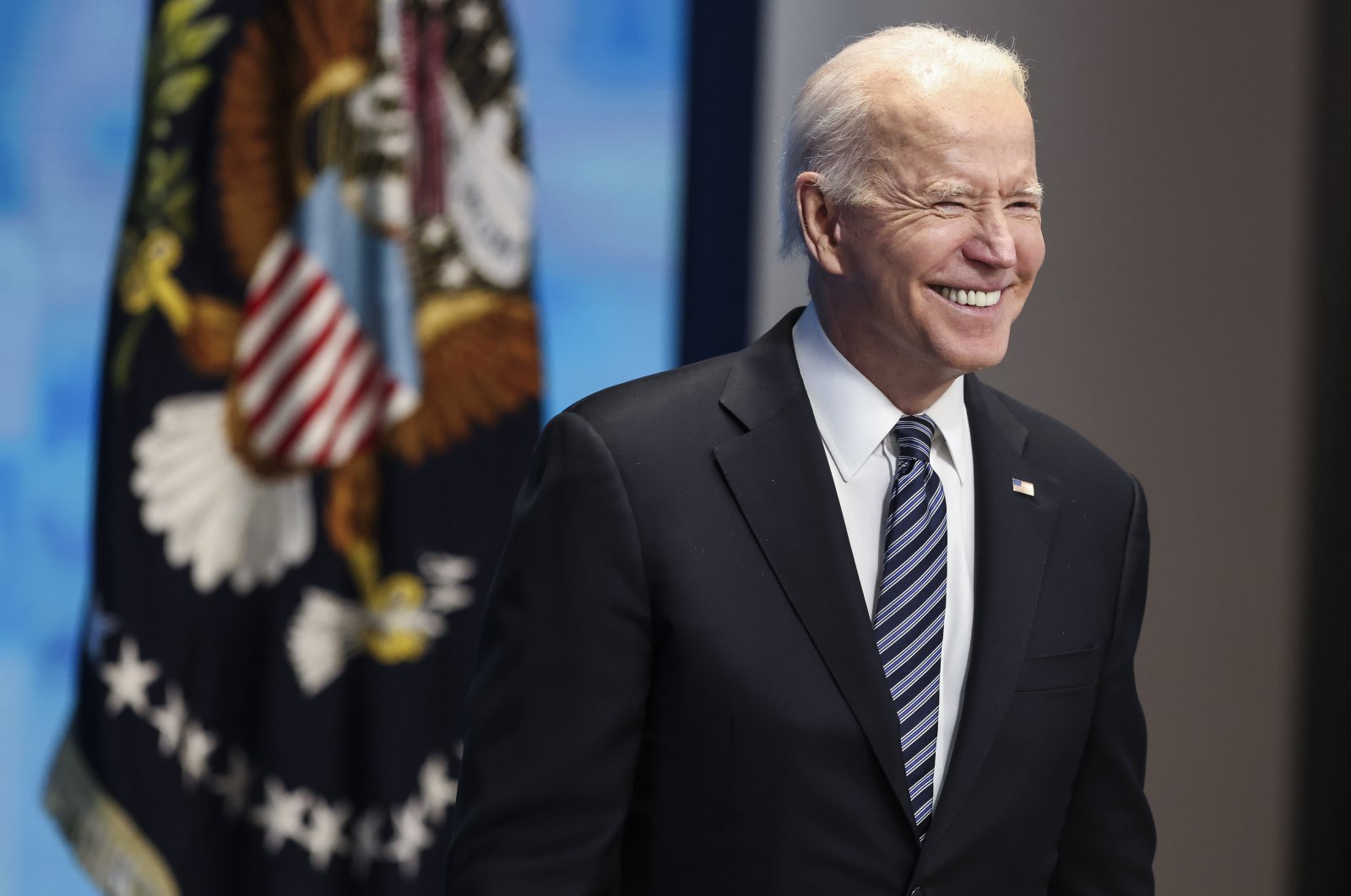 US President Joe Biden delivers remarks on COVID-19 response and the vaccination program, from the South Court Auditorium at the White House, in Washington, DC, USA, 12 May 2021. (EPA Photo)
