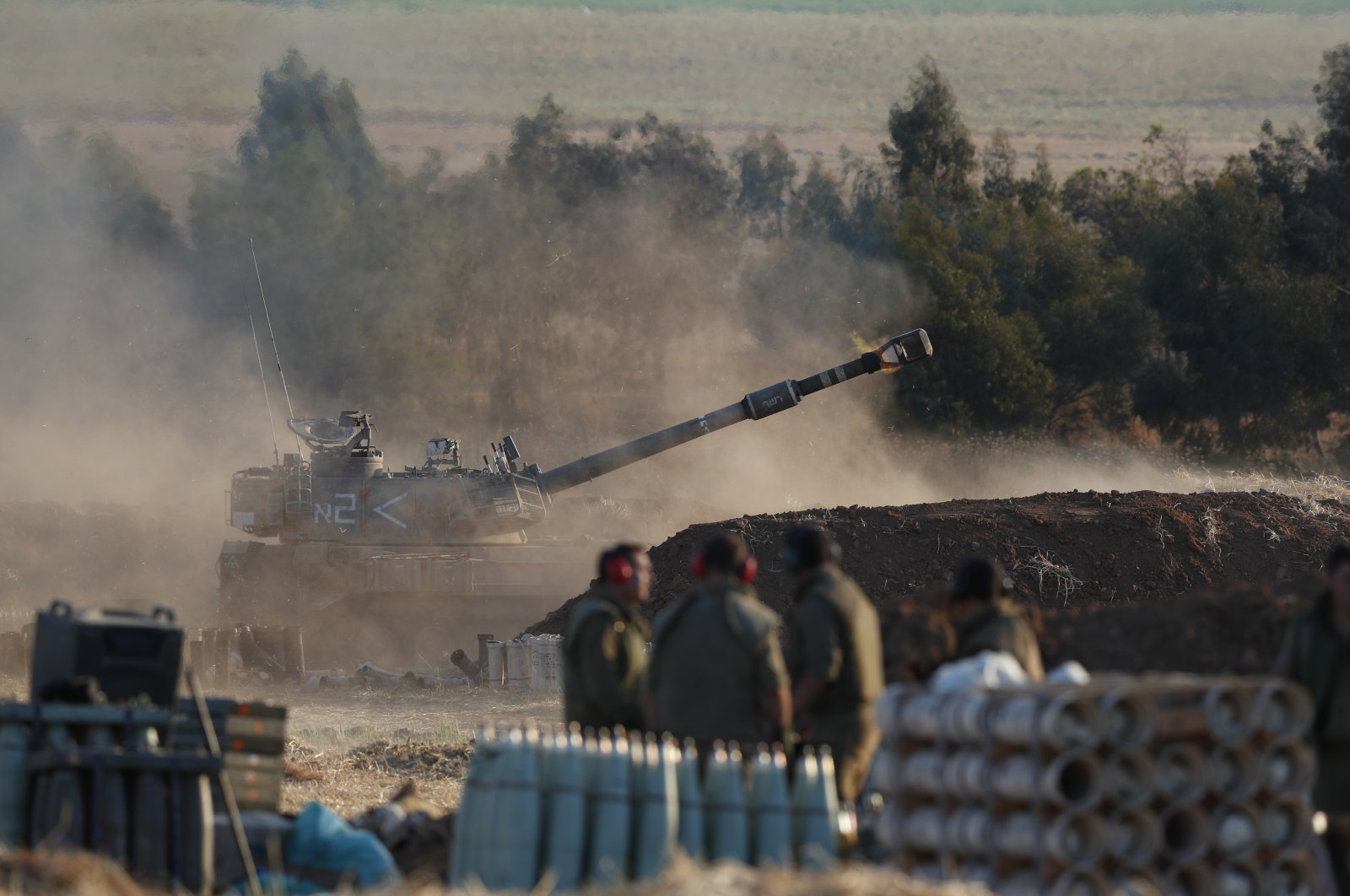 An Israeli artillery shells targets in the Gaza Strip as the escalation continues between the Israeli Army and Hamas forces at the Gaza Border, Israel, 13 May 2021. (EPA File Photo)