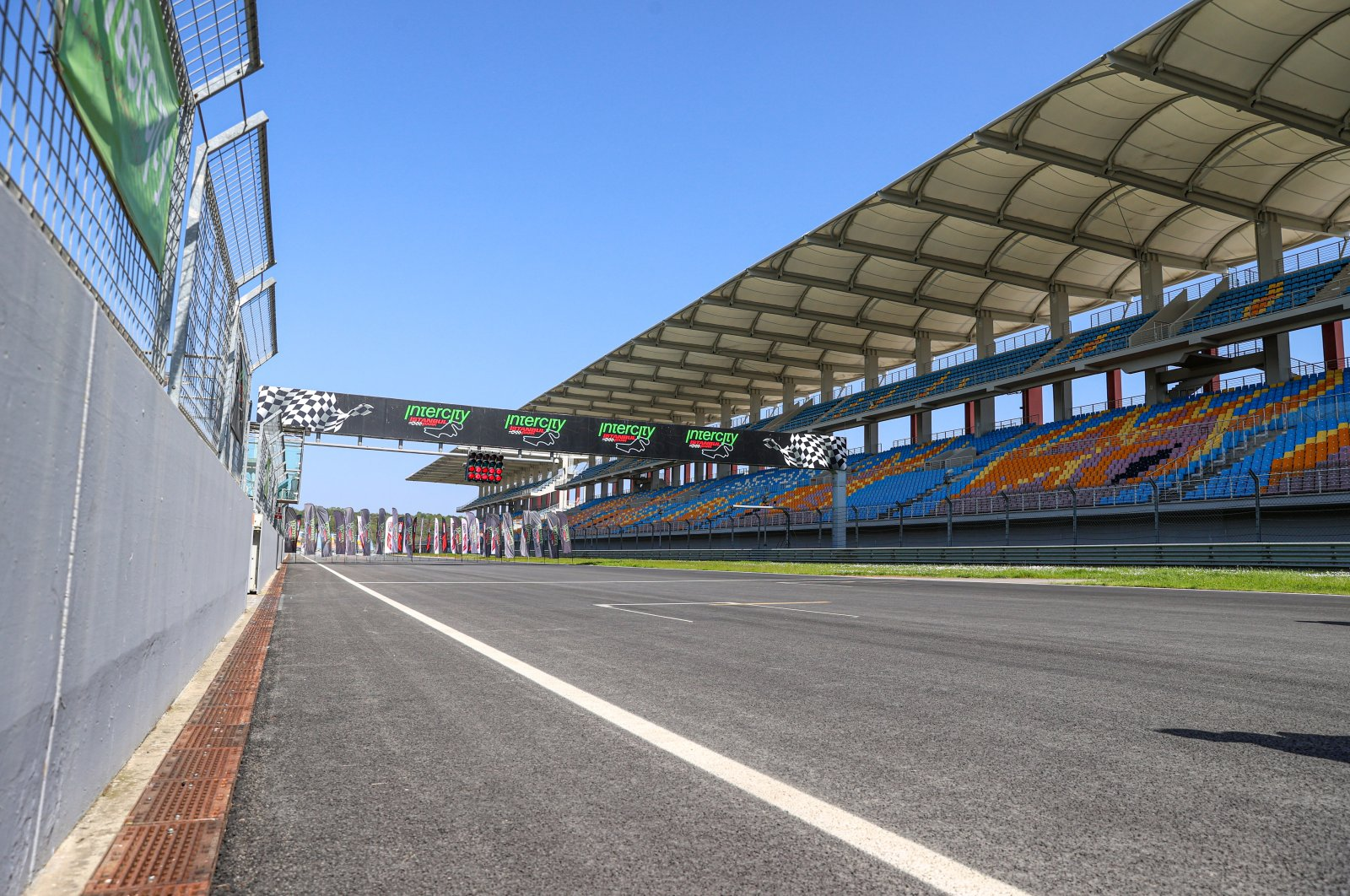 Empty stands are seen at the Intercity Istanbul Park, the racing circuit of the Turkish Grand Prix, on April 29, 2021. (AA Photo)