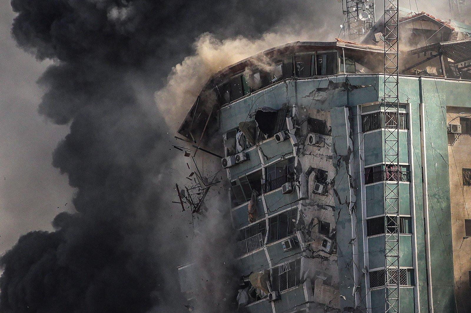 Turkey condemns Israel's destruction of media building in Gaza