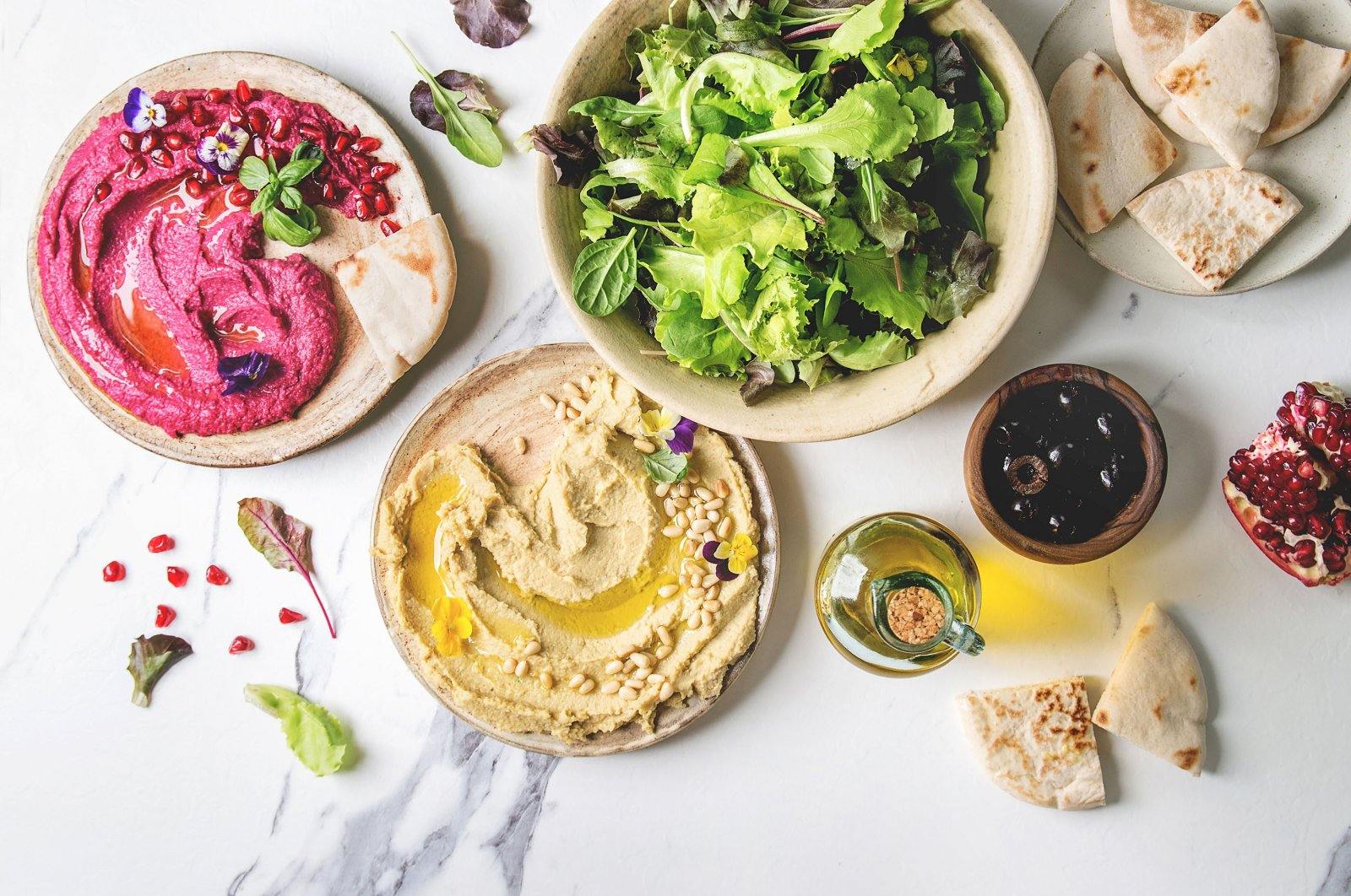 When you crave something colorful, try these variations of hummus. (Getty Images)