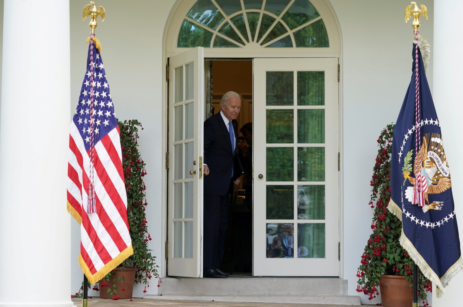 U.S. President Joe Biden leaves after speaking about the COVID-19 response and the vaccination program from the Rose Garden of the White House in Washington, U.S., May 13, 2021. (Reuters Photo)