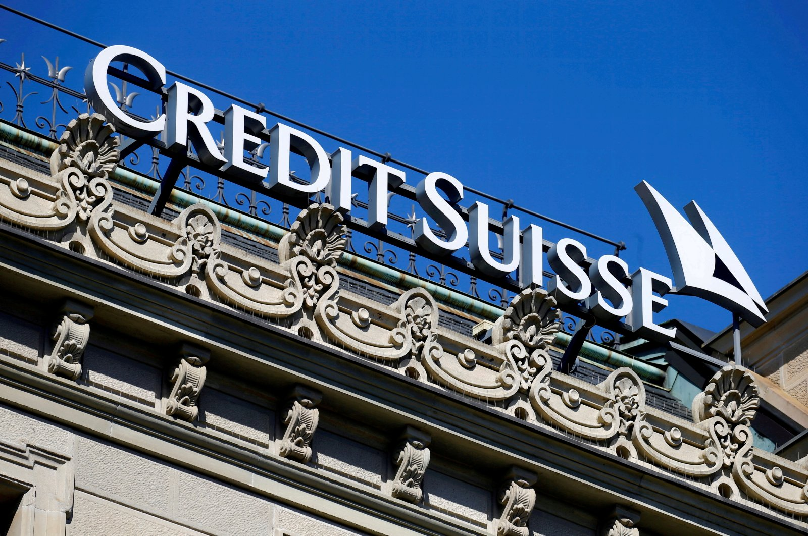 The logo of Swiss bank Credit Suisse is seen at its headquarters in Zurich, Switzerland, March 24, 2021. (Reuters Photo)
