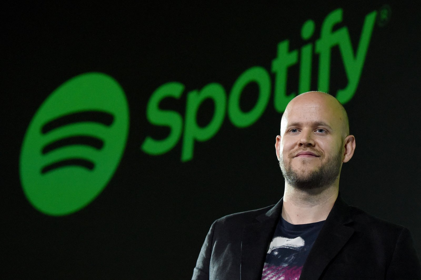 Daniel Ek, CEO of Swedish music streaming service Spotify, poses for photographers at a press conference in Tokyo, Japan, Sept. 29, 2016.  (AFP Photo)