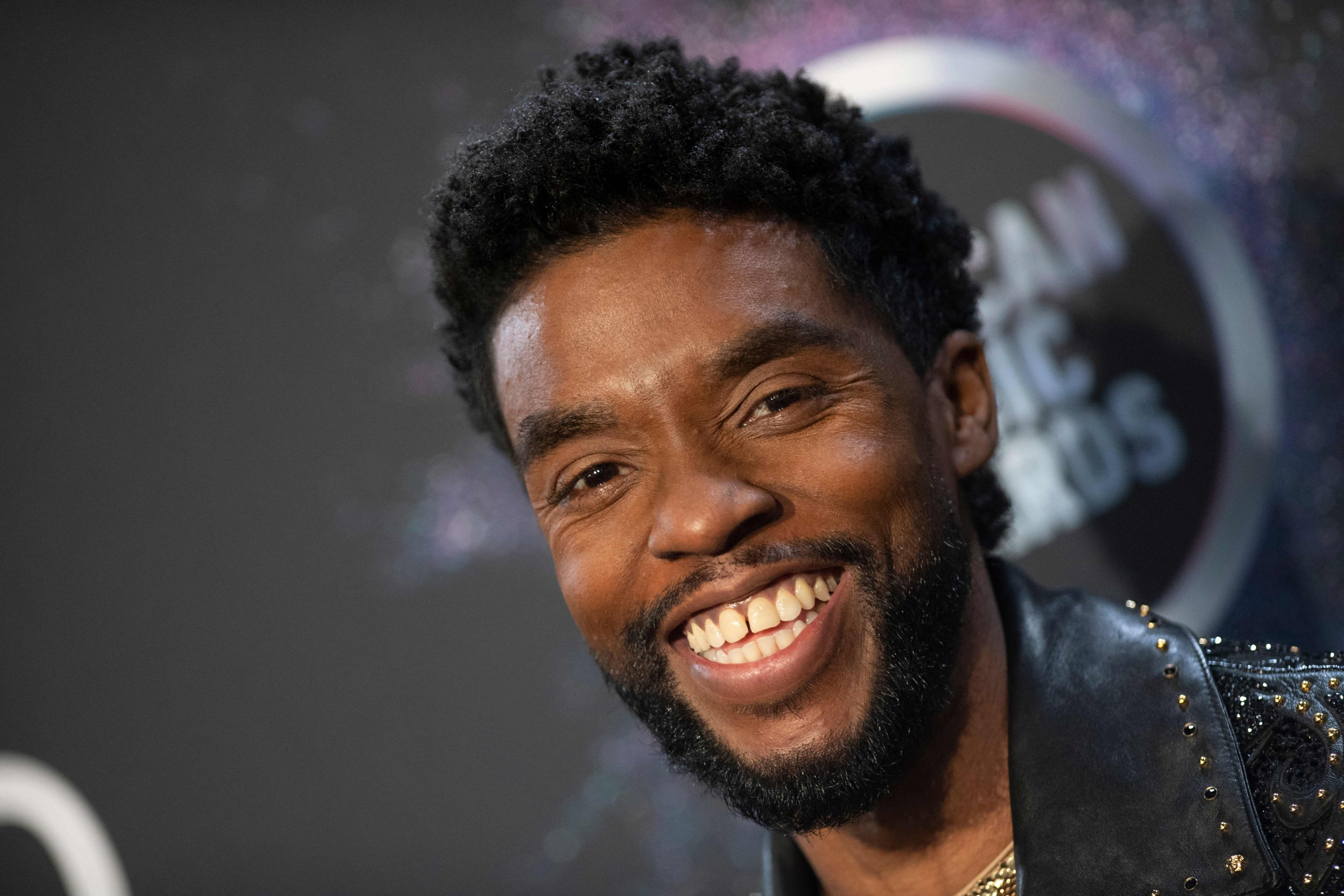 American actor Chadwick Boseman poses in the press room during the 2019 American Music Awards at the Microsoft Theater in Los Angeles, California, U.S., Nov. 24, 2019. (AFP Photo)
