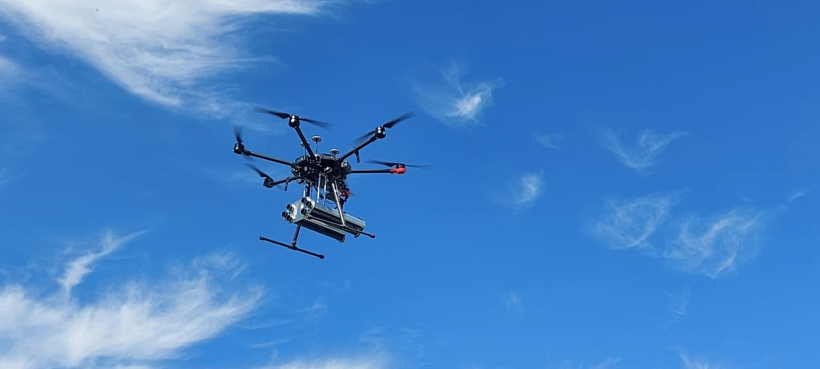 A mini drone carrying Troy Teknoloji Savunma ammunition is seen in the photo provided on May 16, 2021. (Photo by Troy Teknoloji Savunma via AA)