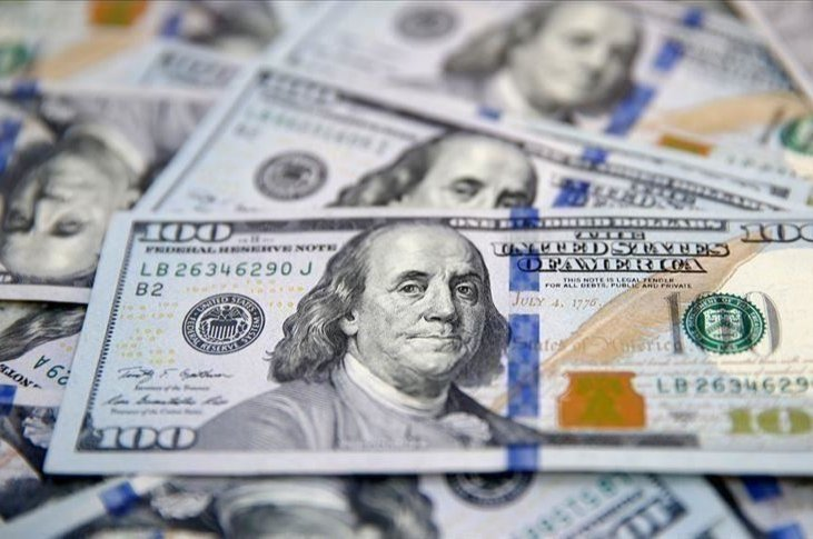 This file photo shows the likeness of Benjamin Franklin on $100 bills in Dallas, the U.S, Jan. 22, 2020. (AP photo)