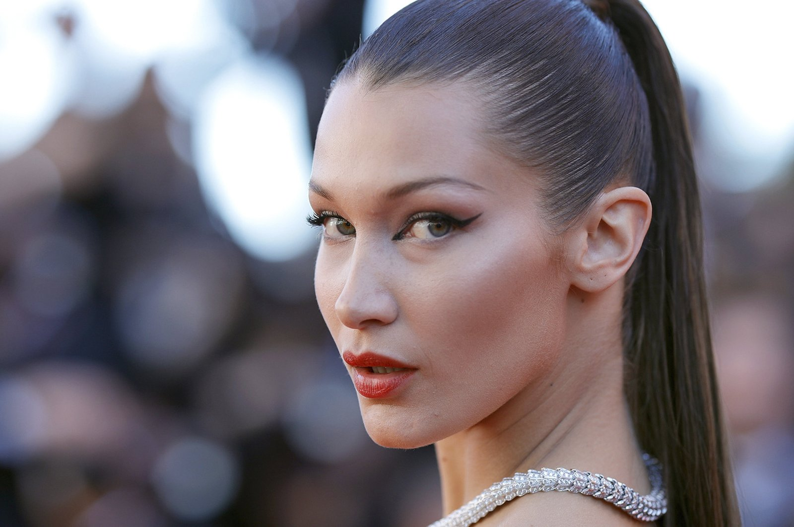 """Bella Hadid attends the """"Okja"""" screening during the 70th annual Cannes Film Festival at Palais des Festivals in Cannes, France, May 19, 2017.  (Getty Images)"""