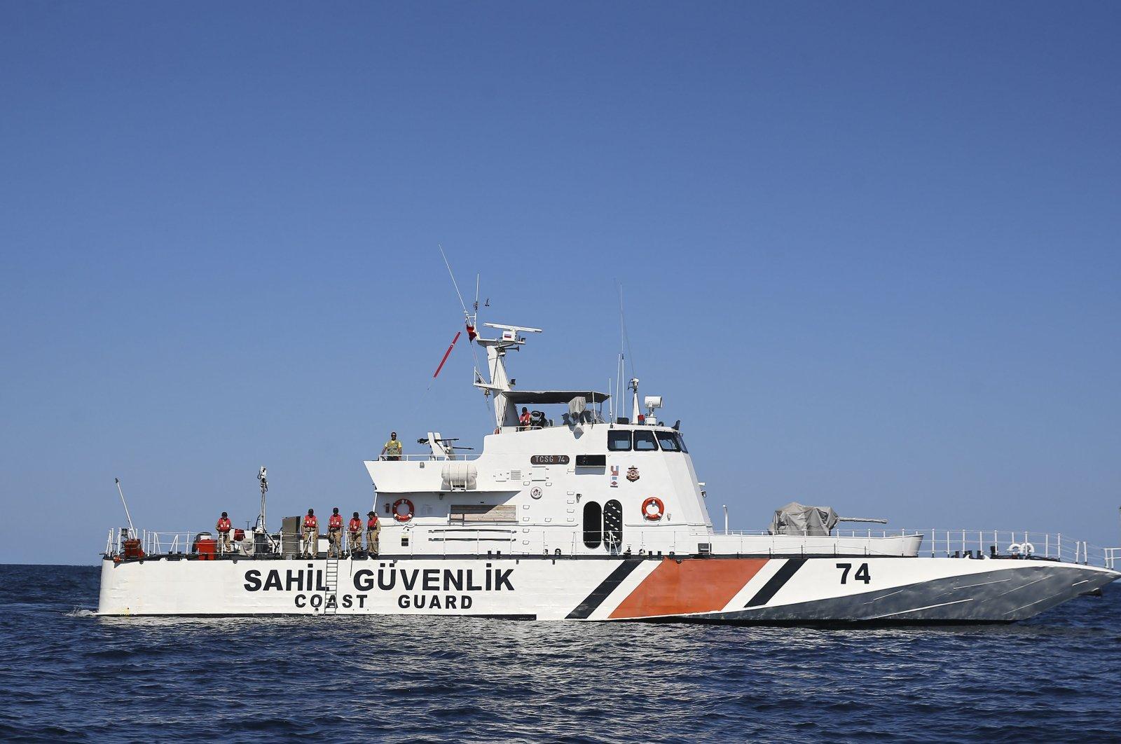 A Turkish coast guard boat on a patrol in the Black Sea, near Turkey, Sept. 22, 2017. (AA Photo)