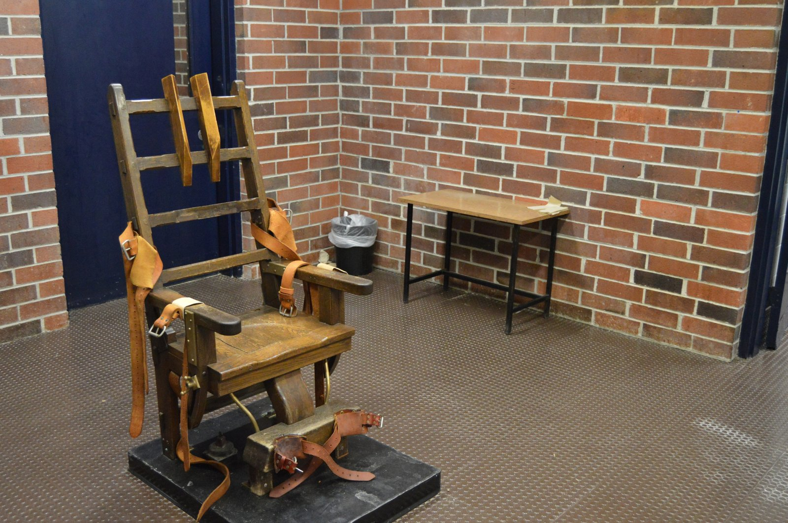 This file photo provided by the South Carolina Department of Corrections shows the state's 109-year-old electric chair in Columbia, S.C., U.S., March 2019. (AP via the South Carolina Department of Corrections)
