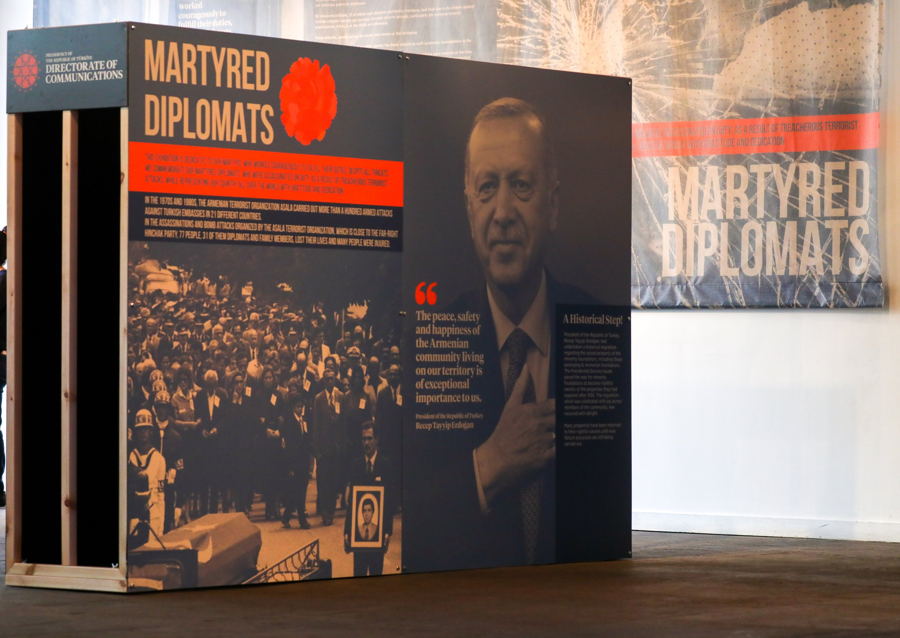 Turkey's Directorate of Communications has opened an exhibition in the United States' capital Washington, D.C.in memory of Turkish diplomats killed by Armenian terrorists, Washington, D.C., U.S., May 18, 2021. (AA Photo)